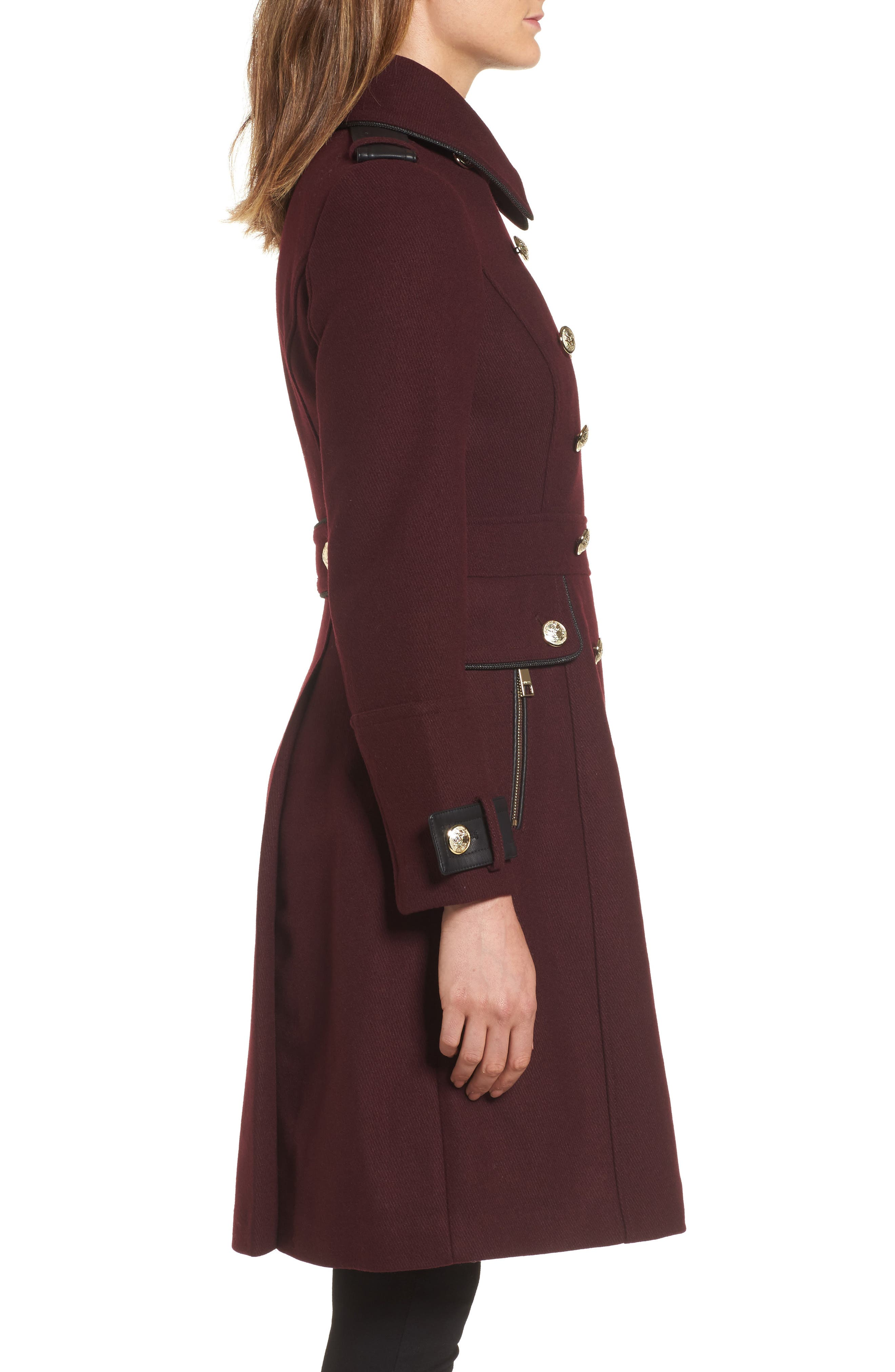 Alternate Image 2  - GUESS Wool Blend Military Coat