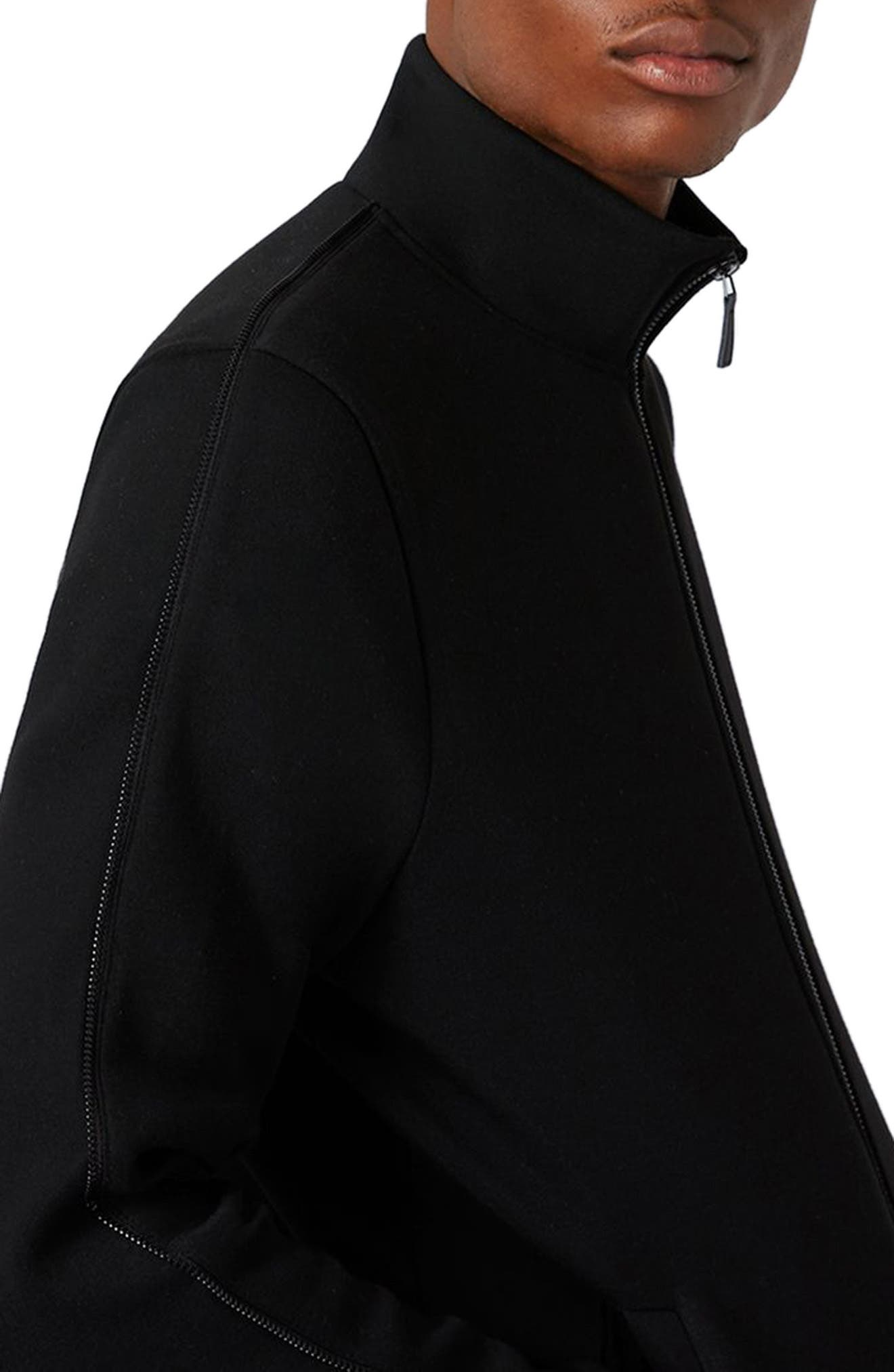 AAA Collection Zip Track Jacket,                             Alternate thumbnail 3, color,                             Black