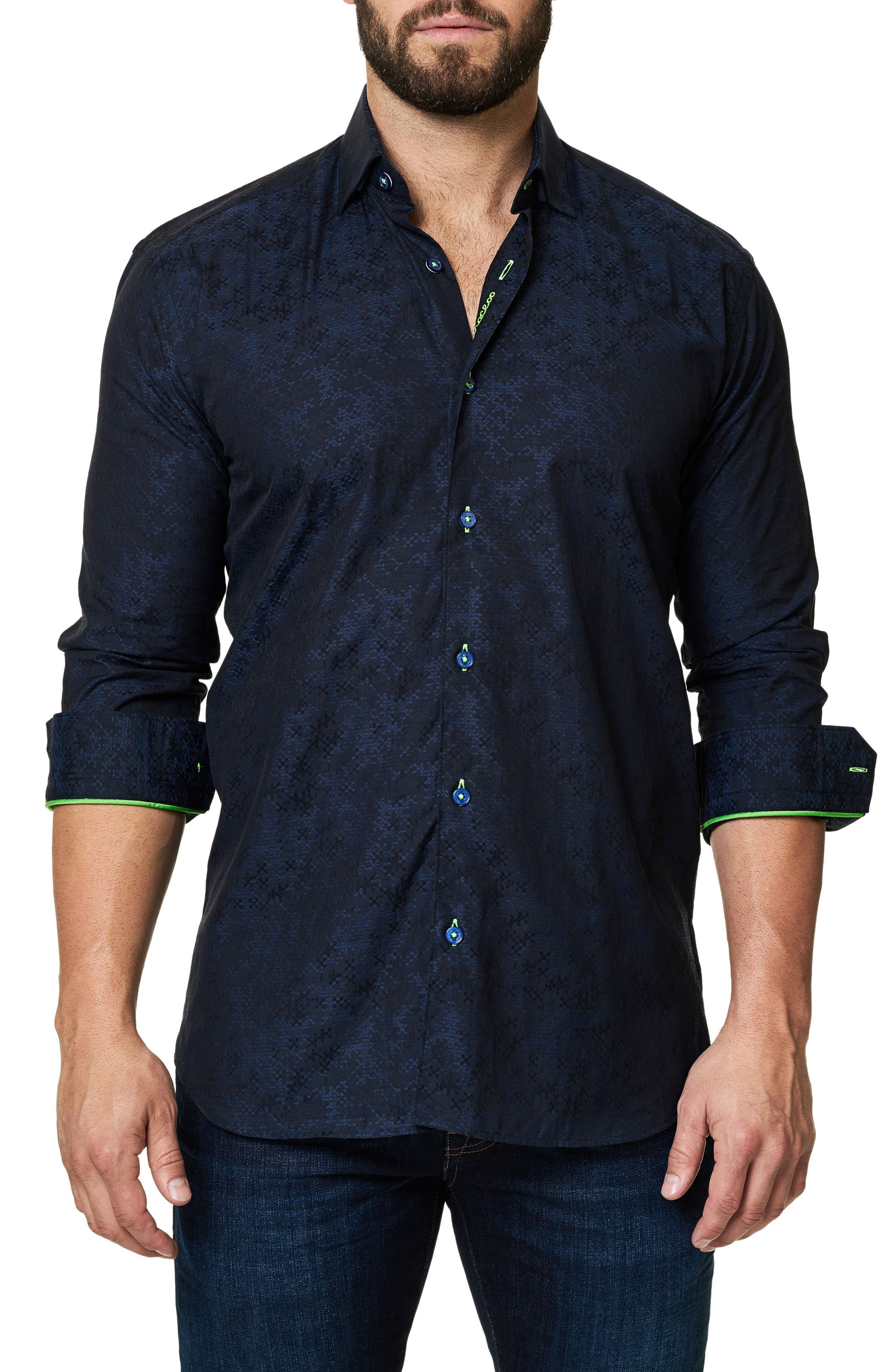 Main Image - Maceoo Trim Fit Print Sport Shirt