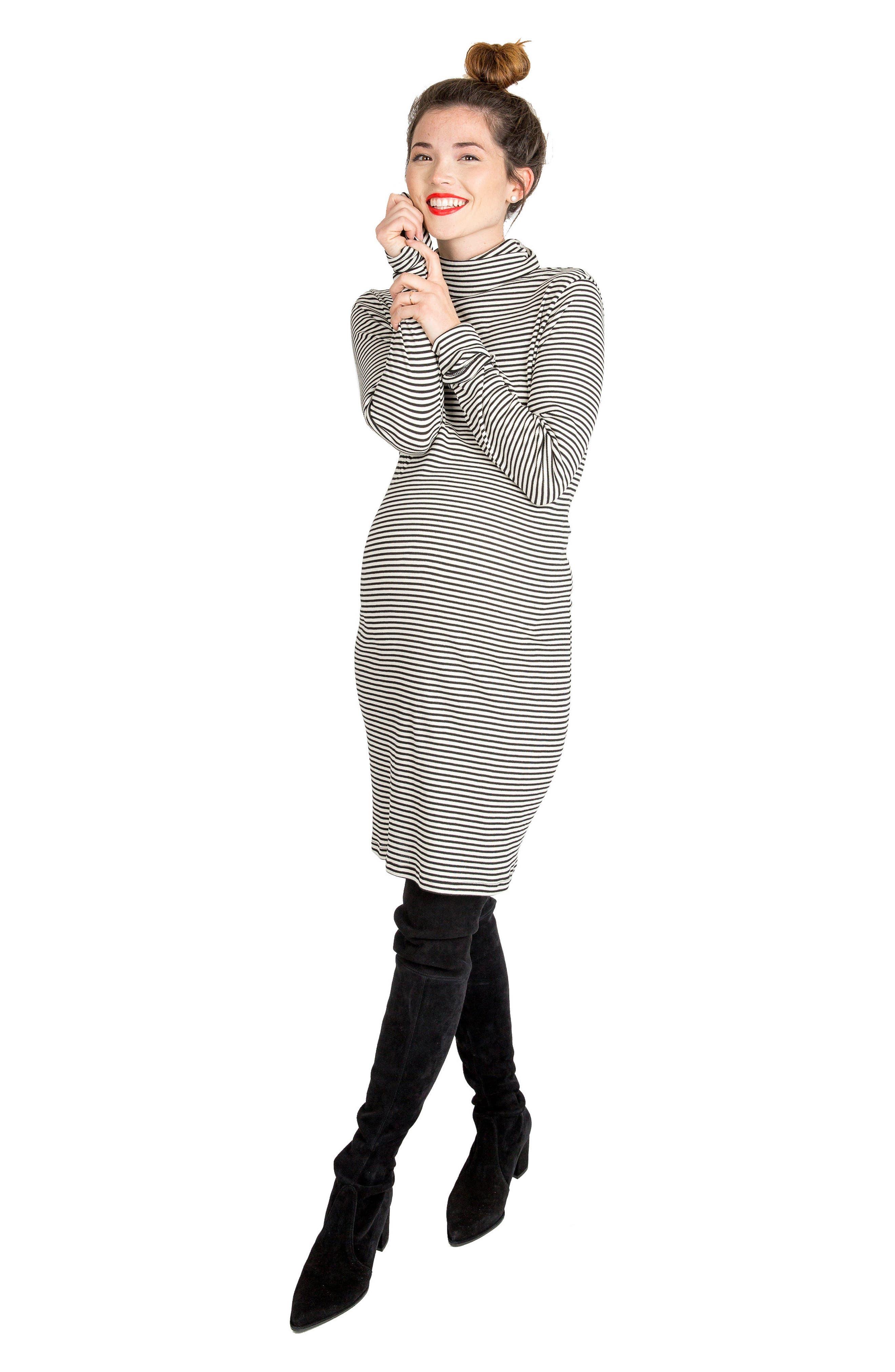 Alternate Image 2  - Nom Maternity Talya Turtleneck Maternity Dress