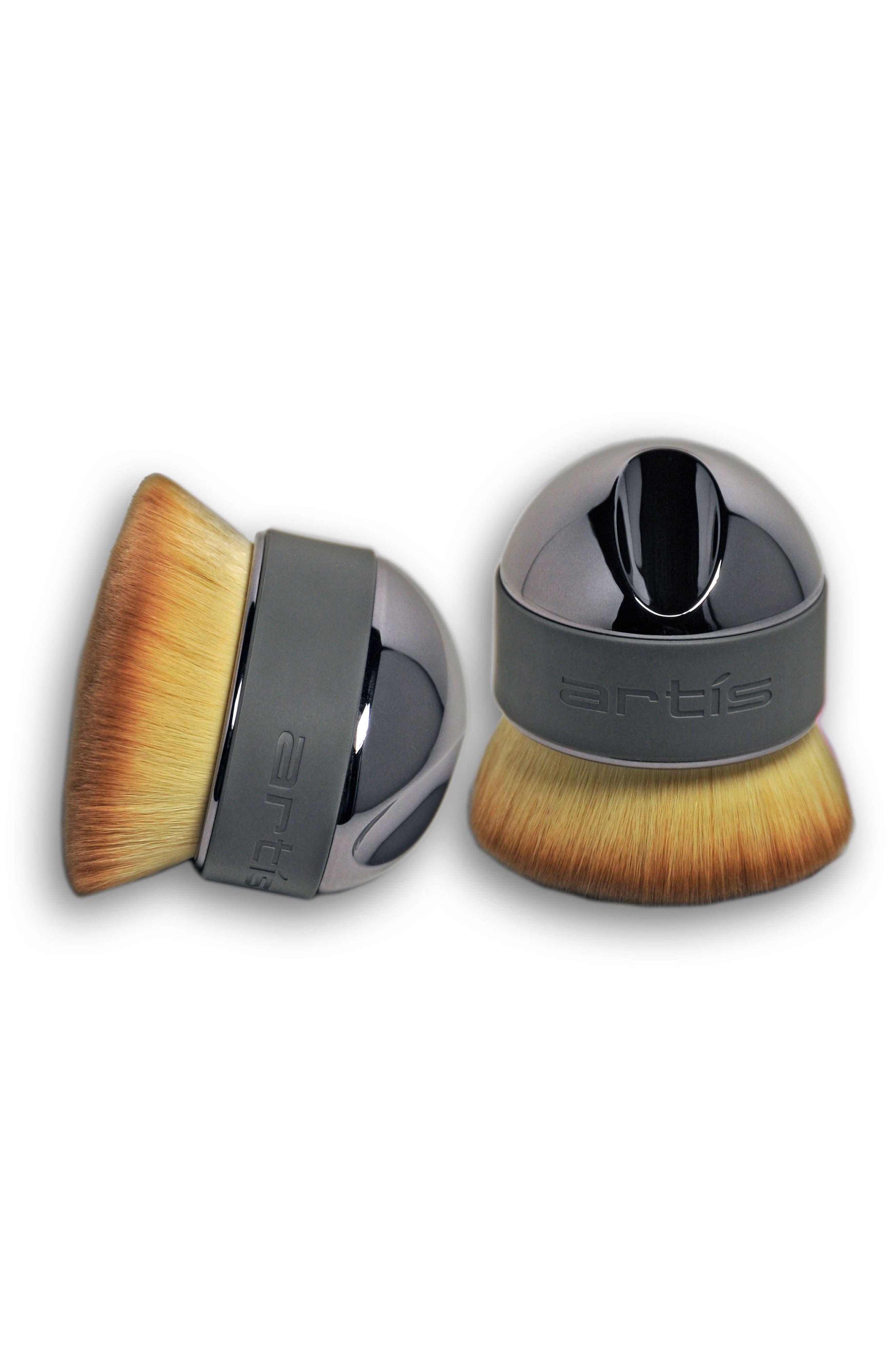 Elite Smoke Palm Brush,                             Alternate thumbnail 4, color,                             Smoke