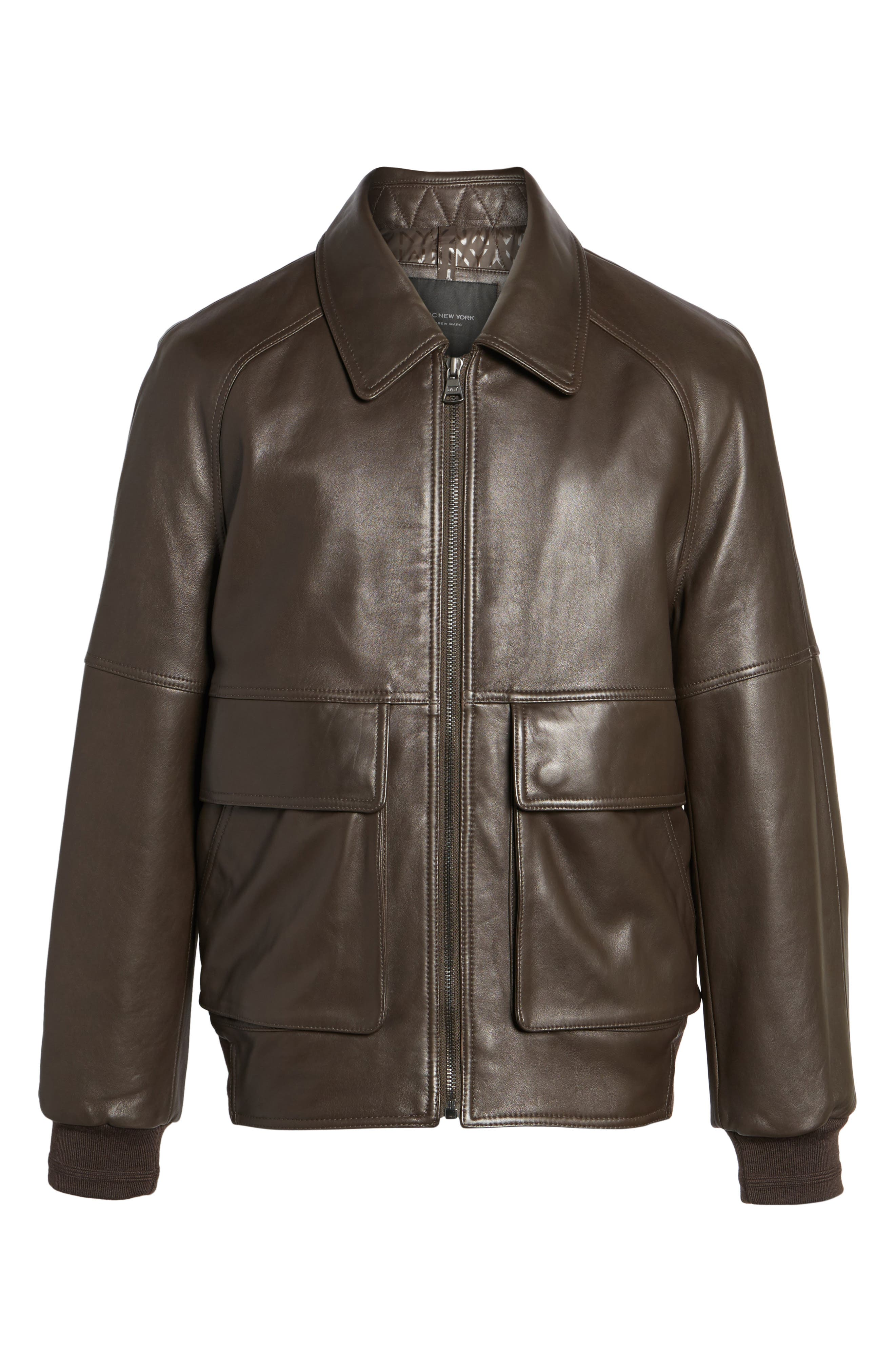 Alternate Image 5  - Andrew Marc Lambskin Leather Aviator Jacket