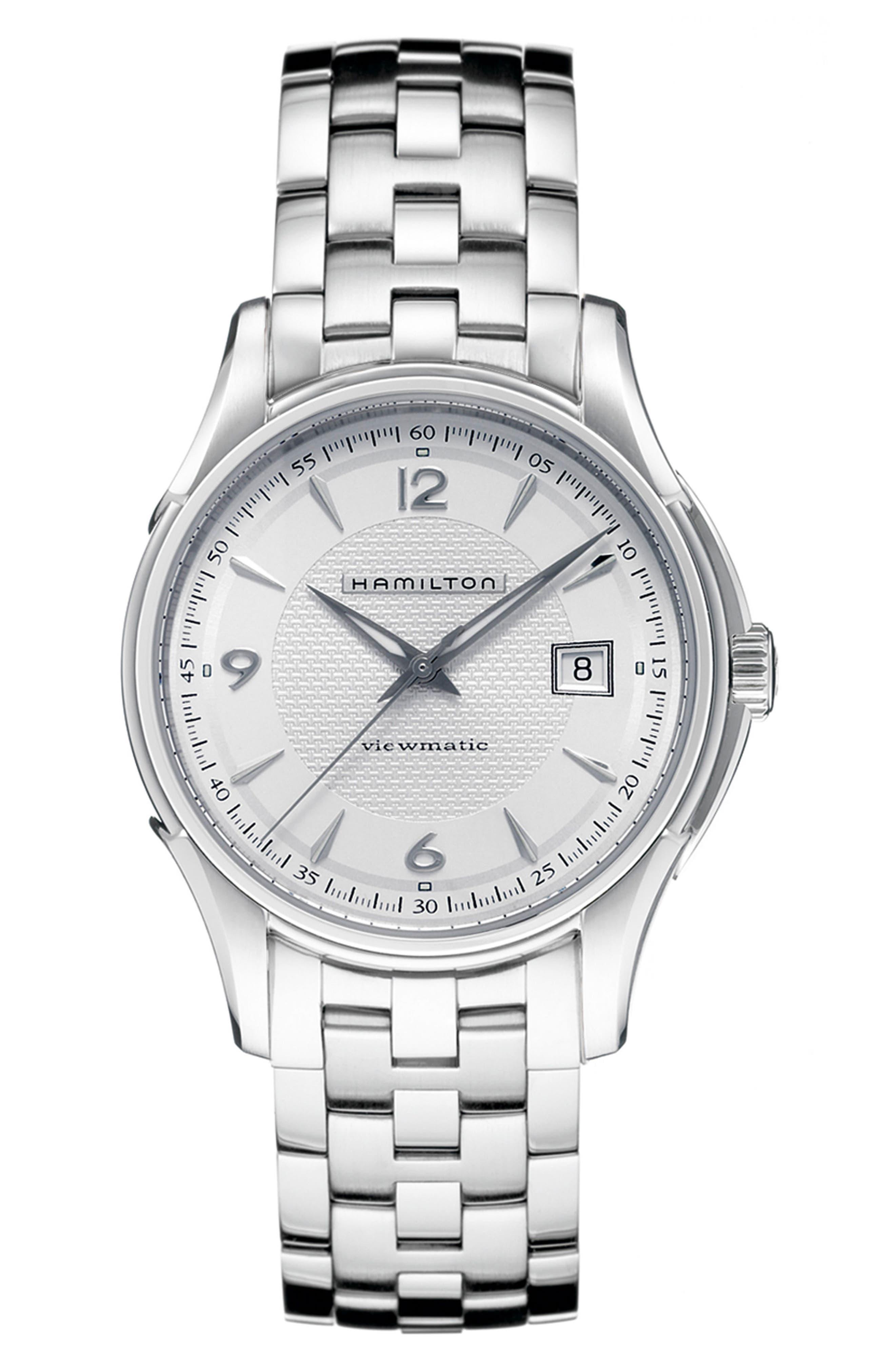Alternate Image 1 Selected - Hamilton Jazzmaster Viewmatic Auto Bracelet Watch, 40mm