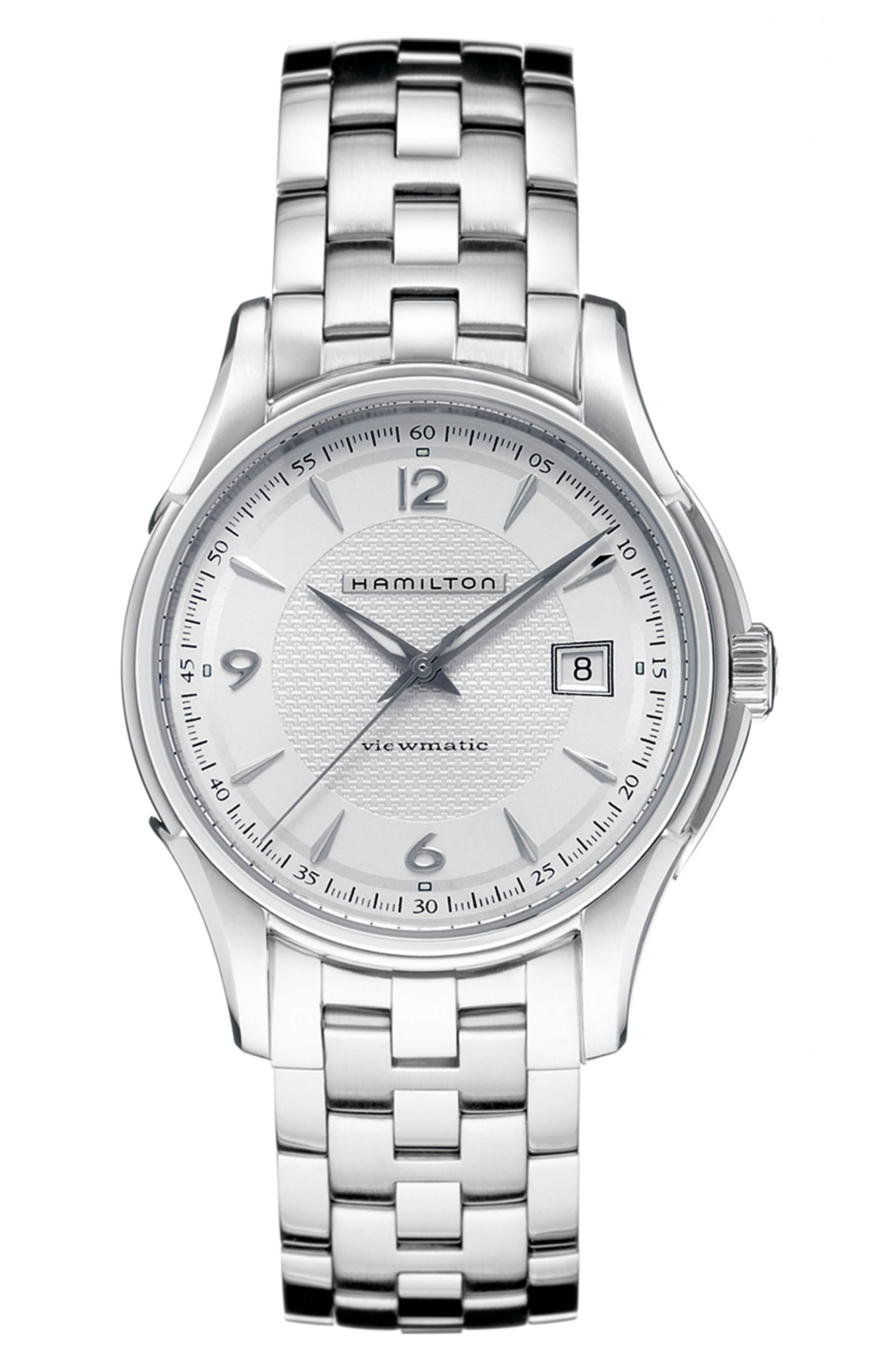 Jazzmaster Viewmatic Auto Bracelet Watch, 40mm,                         Main,                         color, Silver
