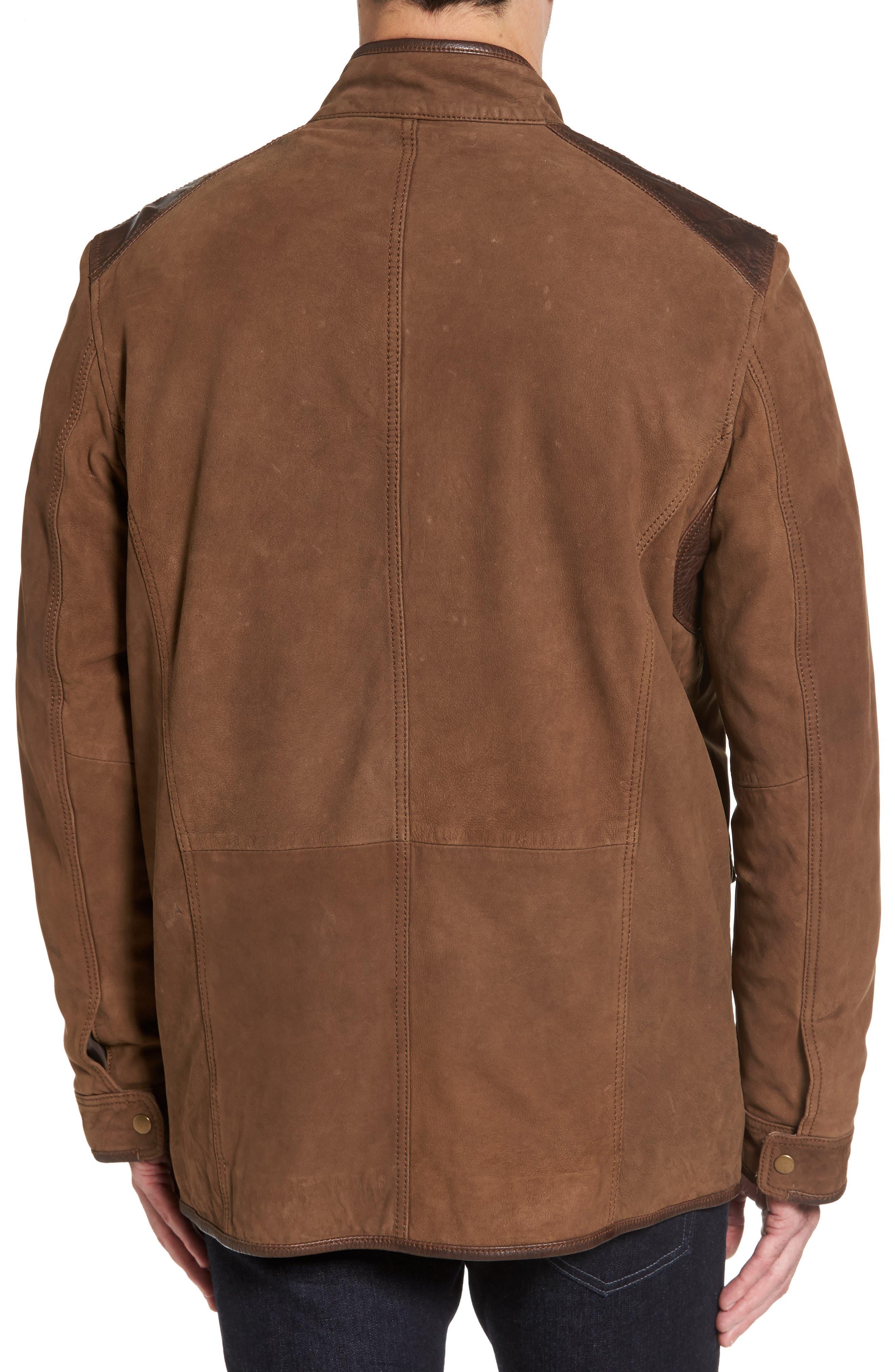 Alternate Image 2  - Missani Le Collezioni Leather Trim Nubuck Jacket