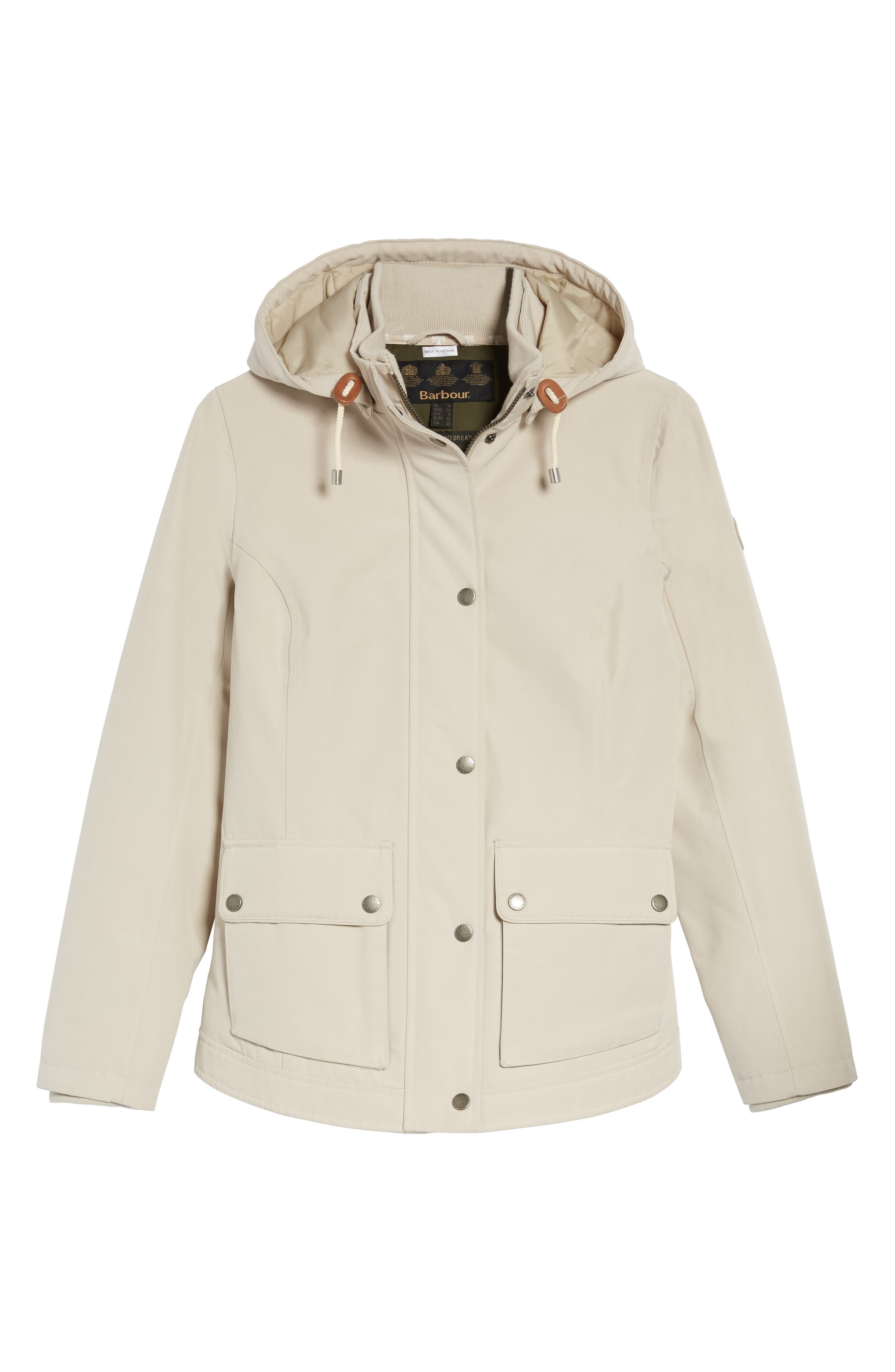 Seaton Hooded Waterproof Jacket,                             Alternate thumbnail 6, color,                             Mist