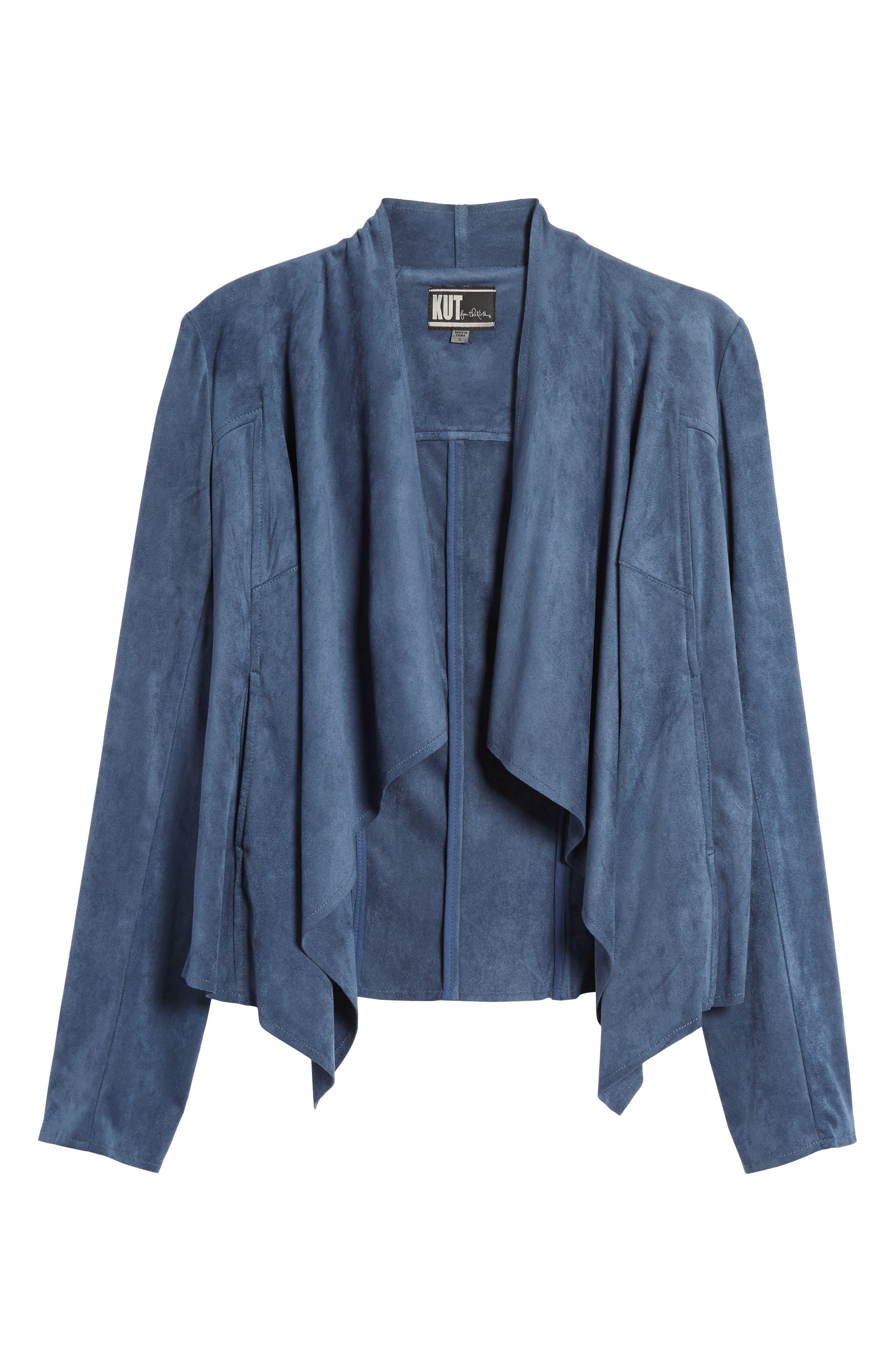 Alternate Image 6  - KUT from the Kloth Tayanita Faux Suede Jacket