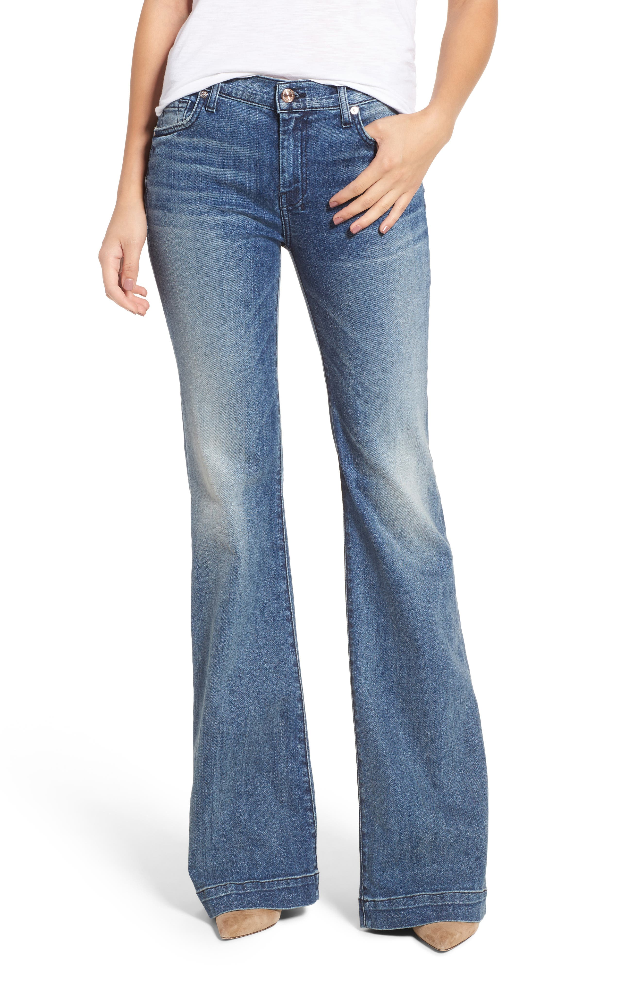 Main Image - 7 For All Mankind® Tailorless Dojo Wide Leg Jeans (Wall Street Heritage)