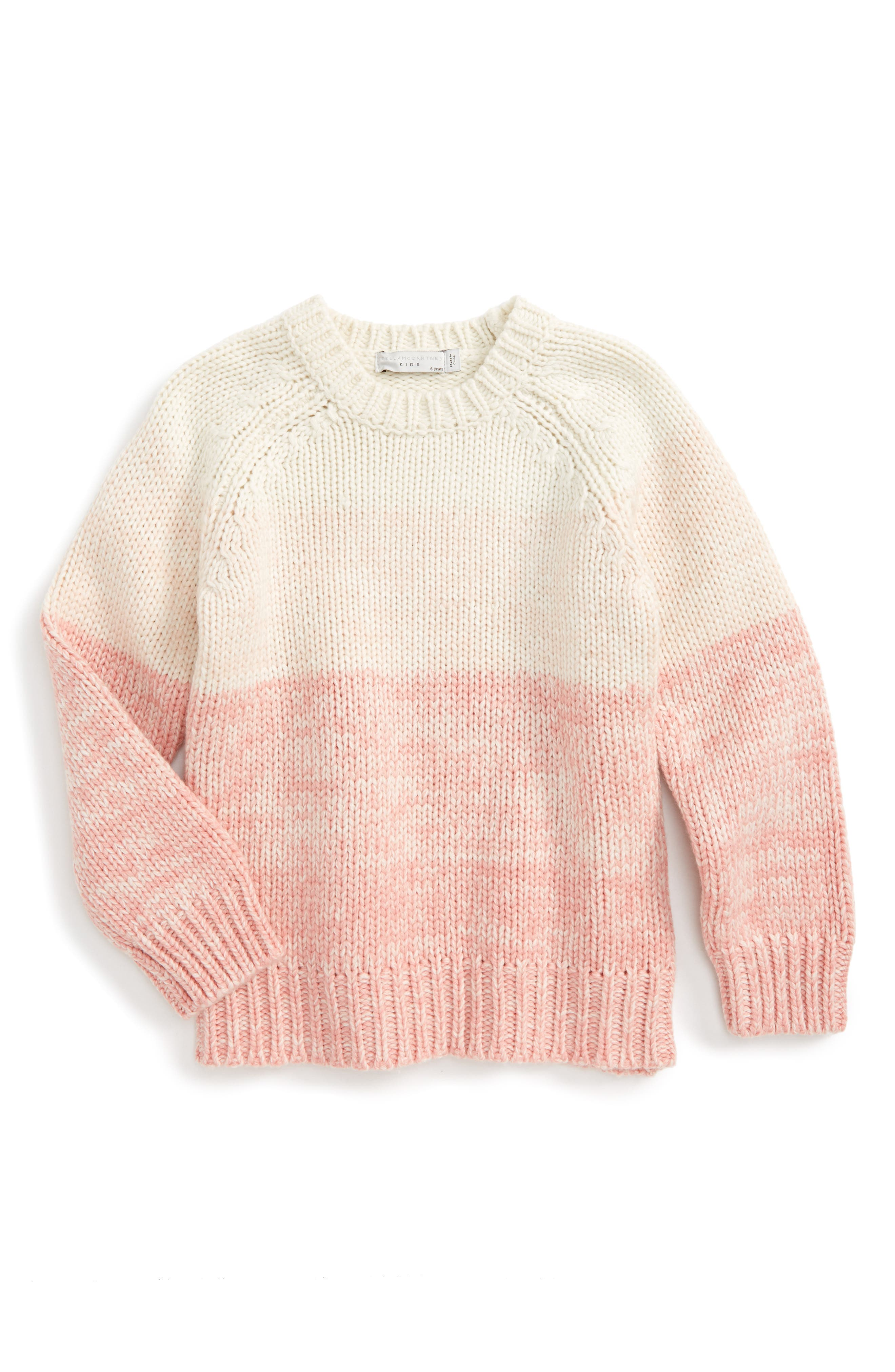 Kids Freddie Chunky Knit Sweater,                             Main thumbnail 1, color,                             Pink