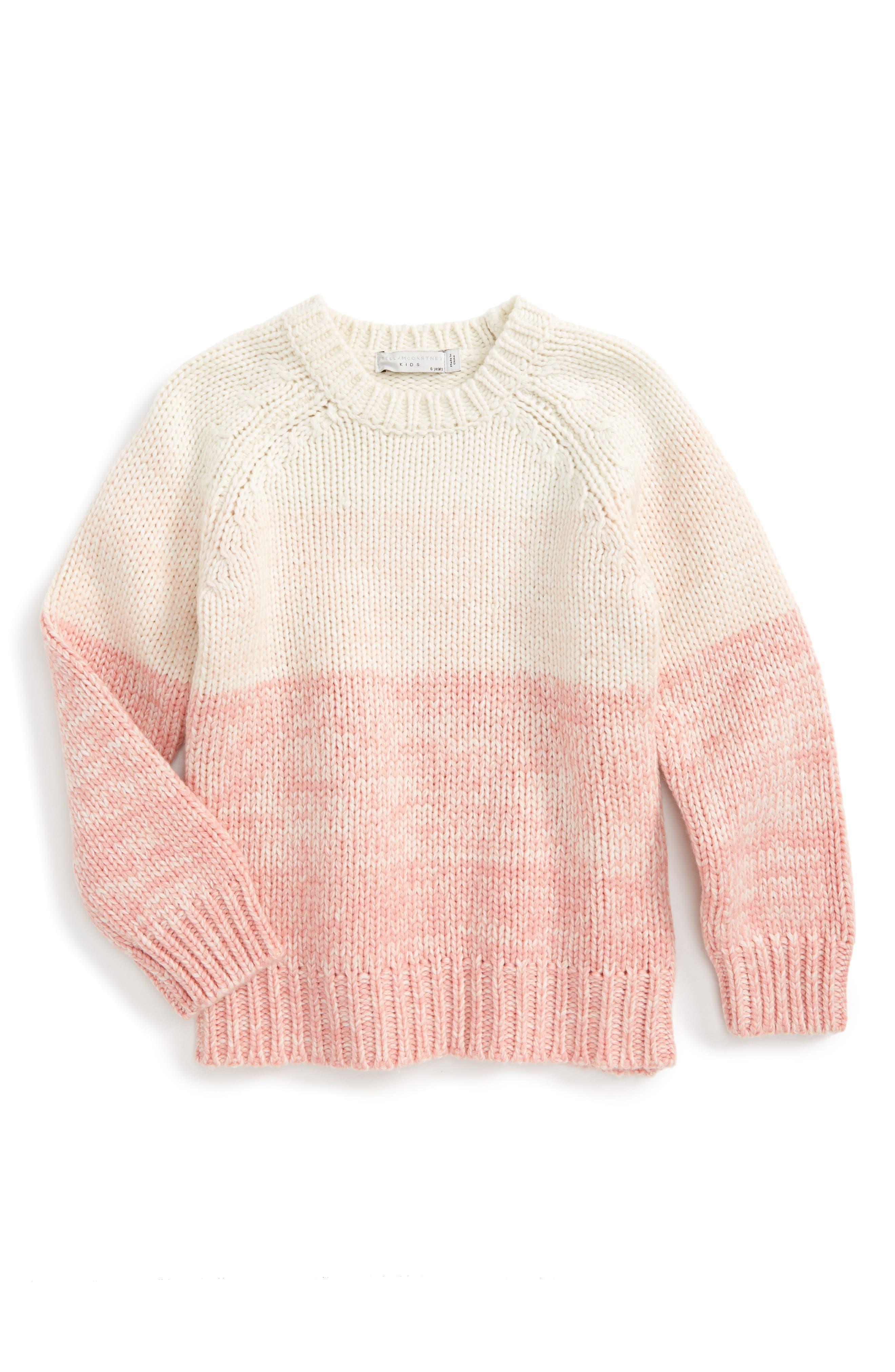 Main Image - Stella McCartney Kids Freddie Chunky Knit Sweater (Little Girls & Big Girls)