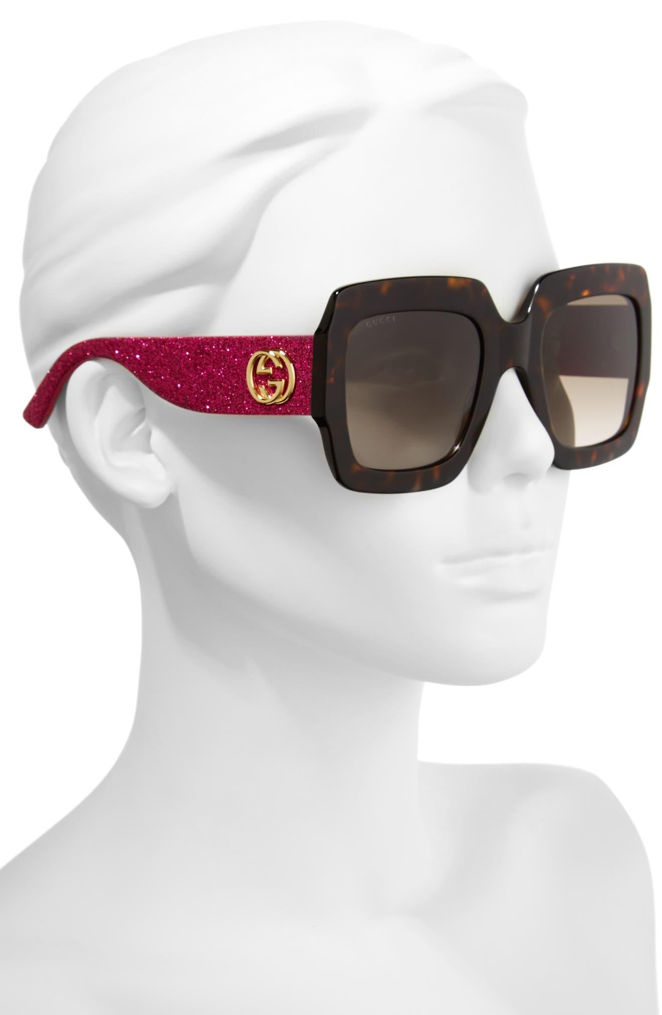 Alternate Image 2  - Gucci 54mm Square Sunglasses