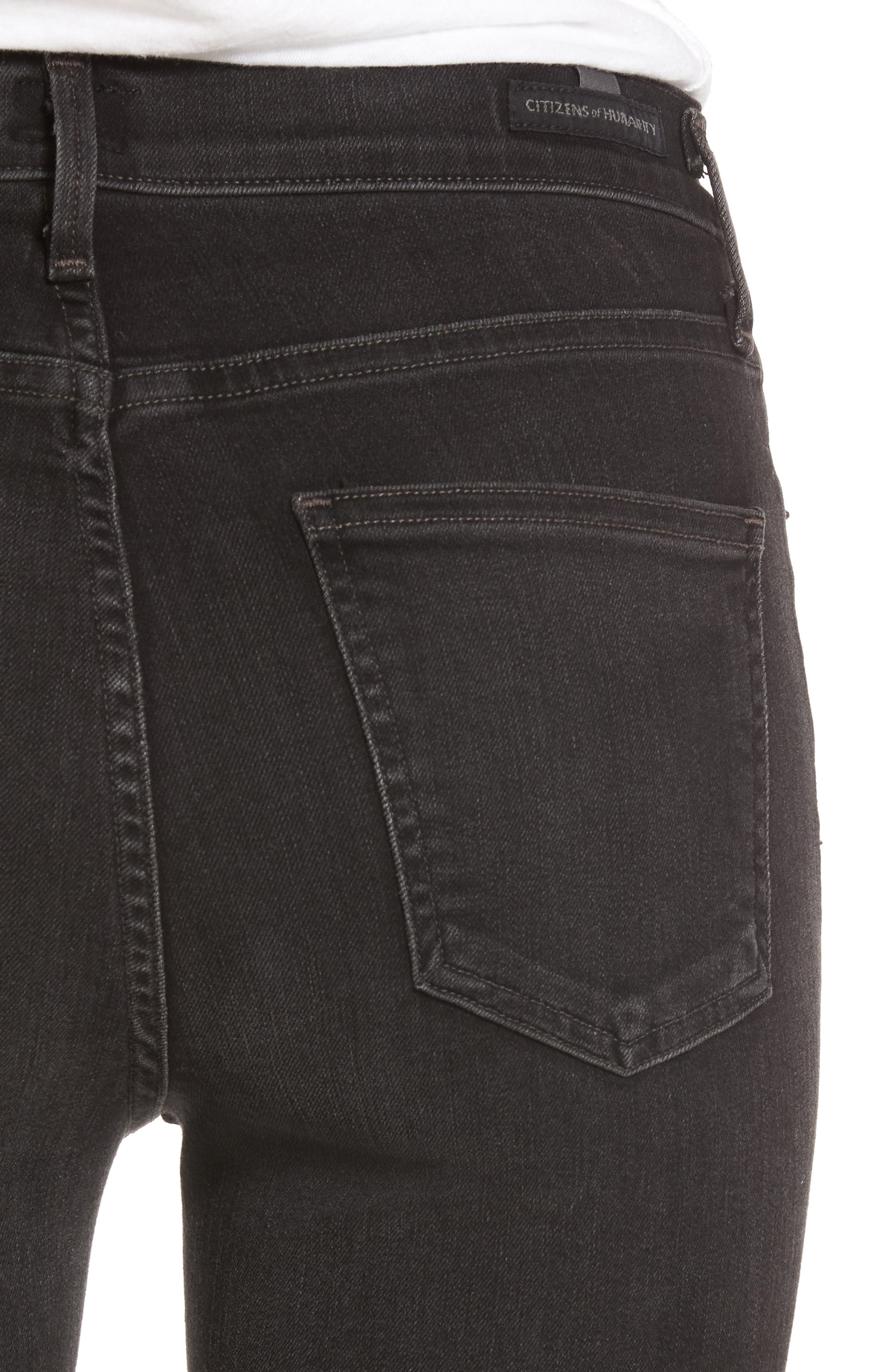 Cara Ankle Cigarette Jeans,                             Alternate thumbnail 4, color,                             Darkness