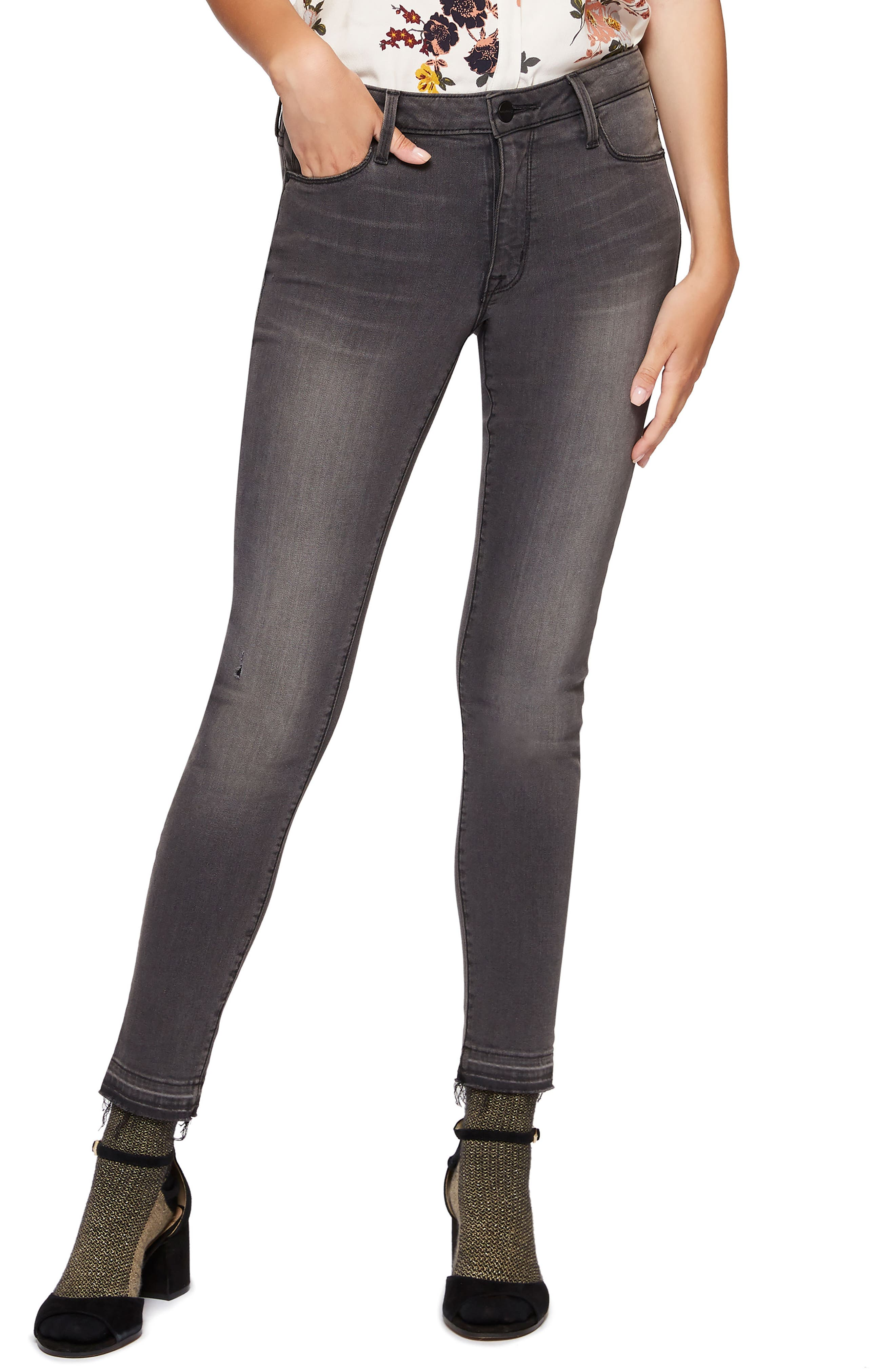 Alternate Image 1 Selected - Sanctuary Robbie Release Hem Ankle Skinny Jeans (Audrey)