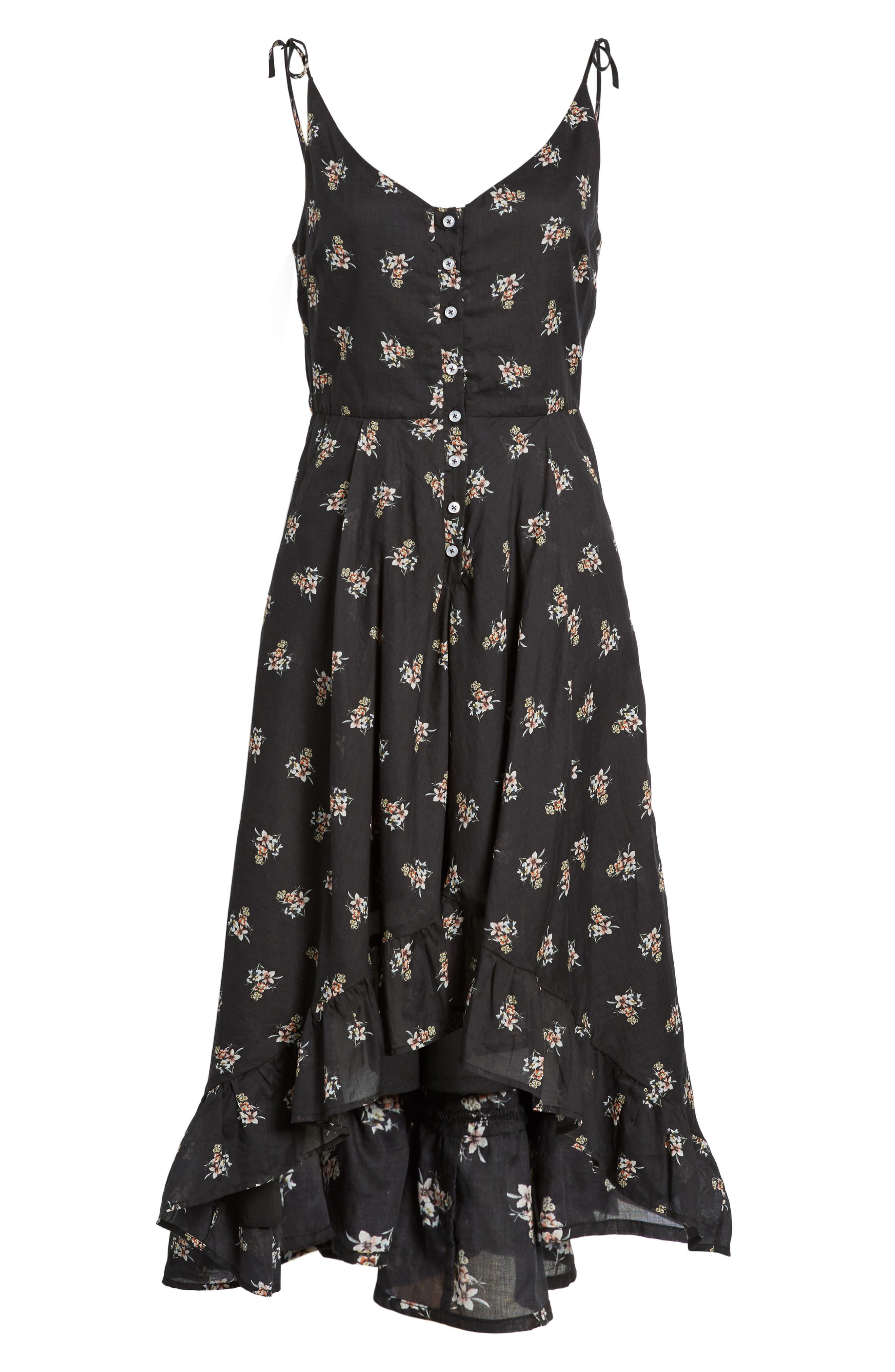 Regal Midi Dress,                             Alternate thumbnail 6, color,                             Isi Floral