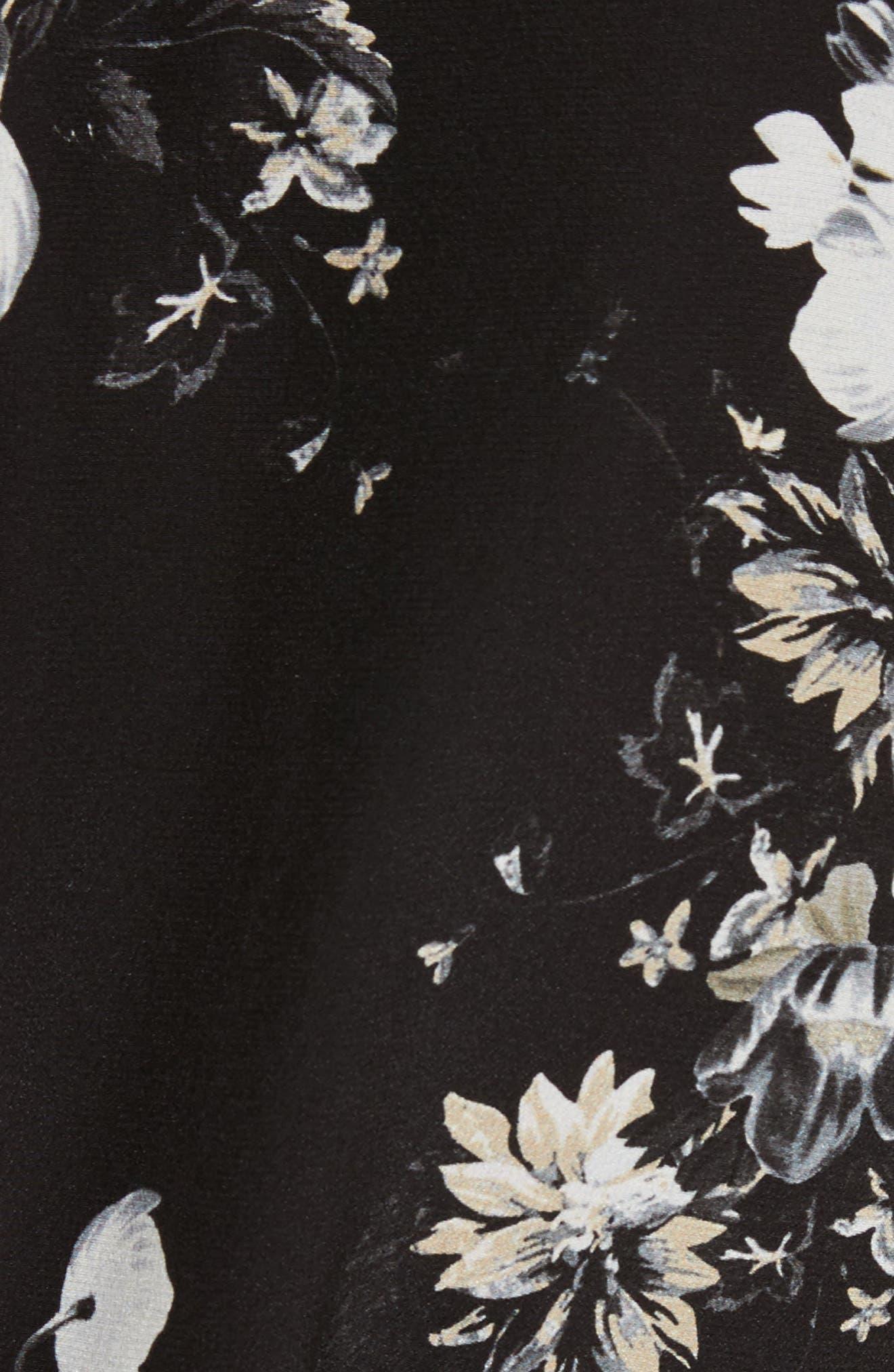 Alternate Image 5  - Erdem Floral Silk Ruffle Dress