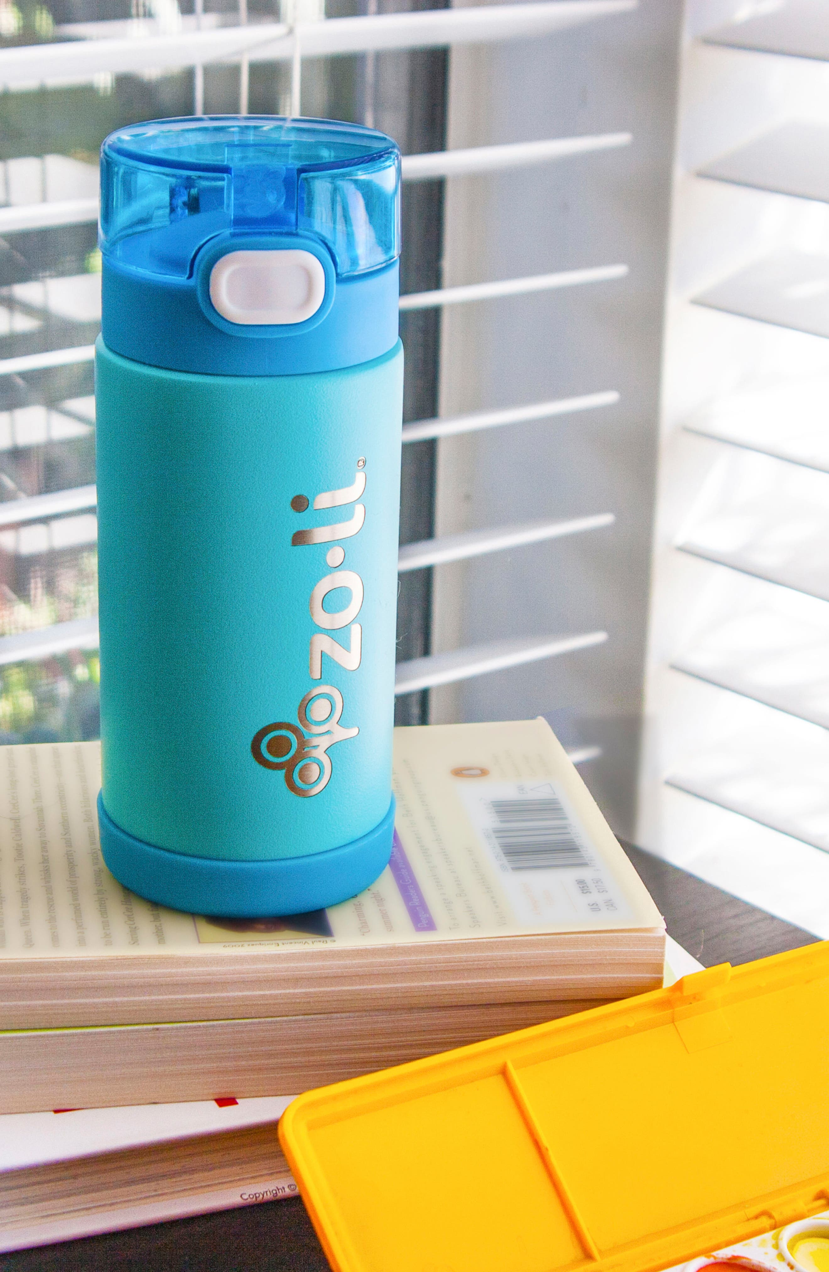 Alternate Image 2  - ZoLi POW Squeak 10-Ounce Insulated Stainless Steel Water Bottle