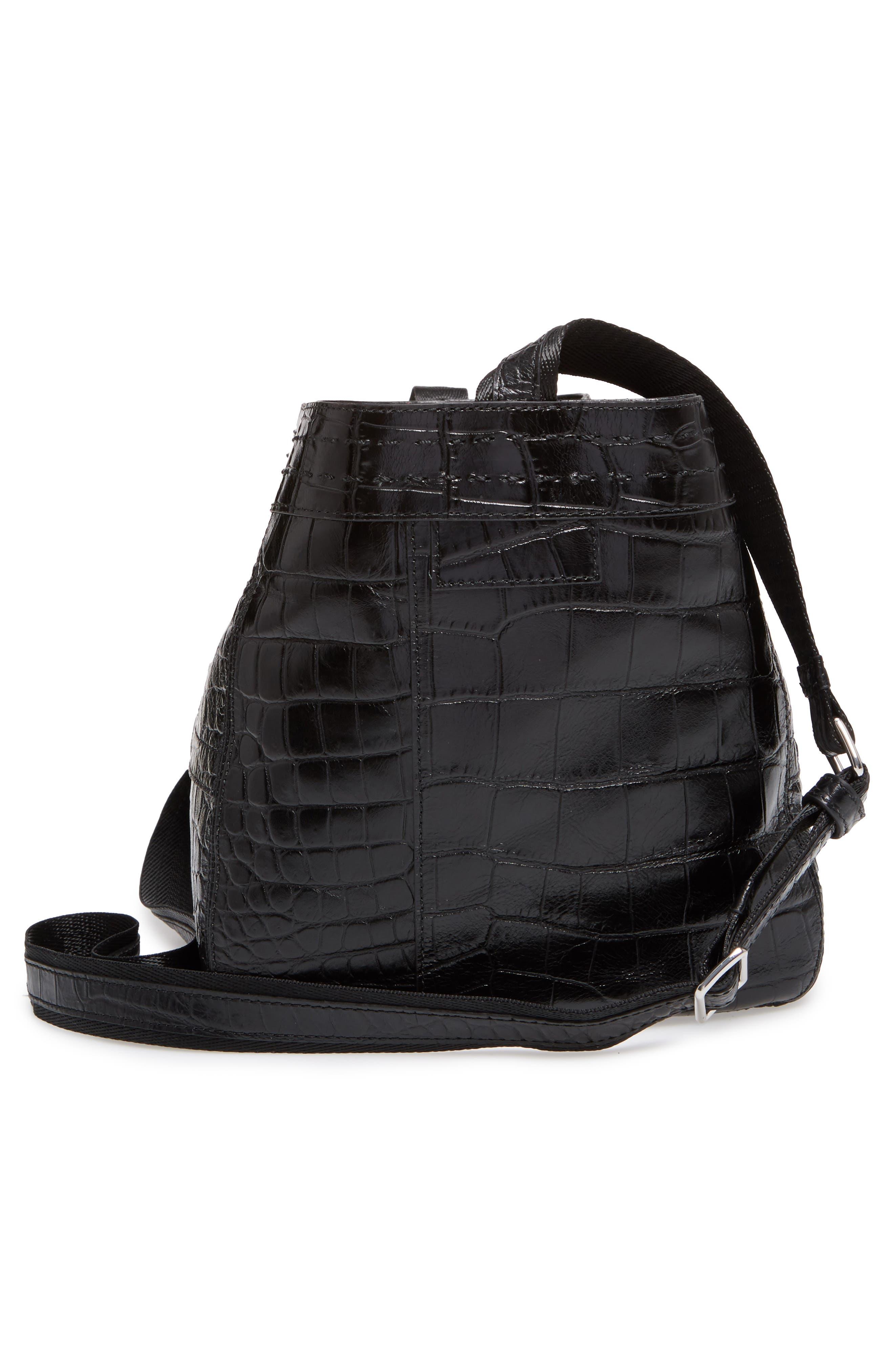 Alternate Image 4  - Elizabeth and James Mini Keely Newspaper Croc Embossed Leather Shoulder/Crossbody Bag