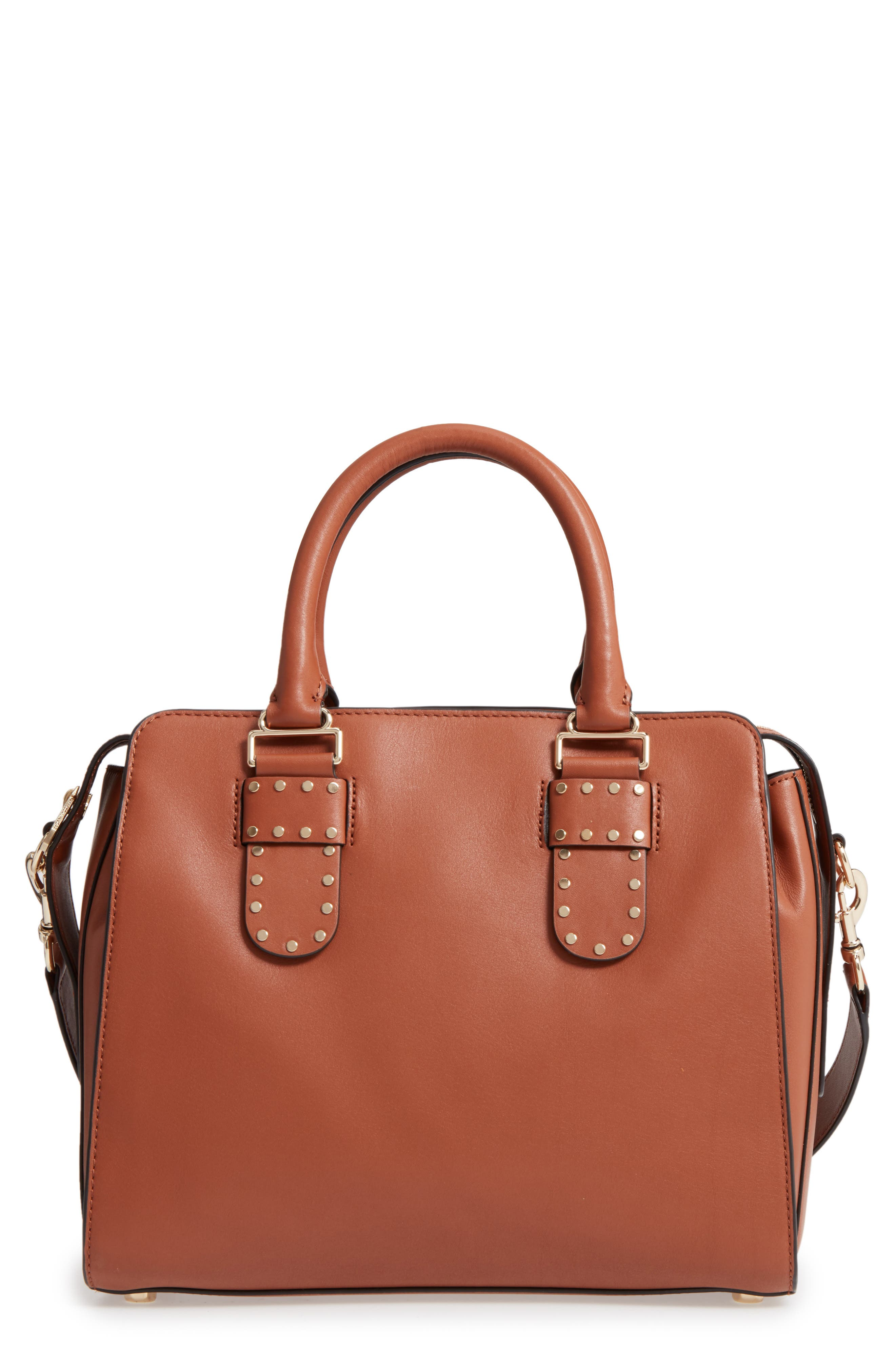Midnighter Leather Work Tote,                             Main thumbnail 1, color,                             Almond