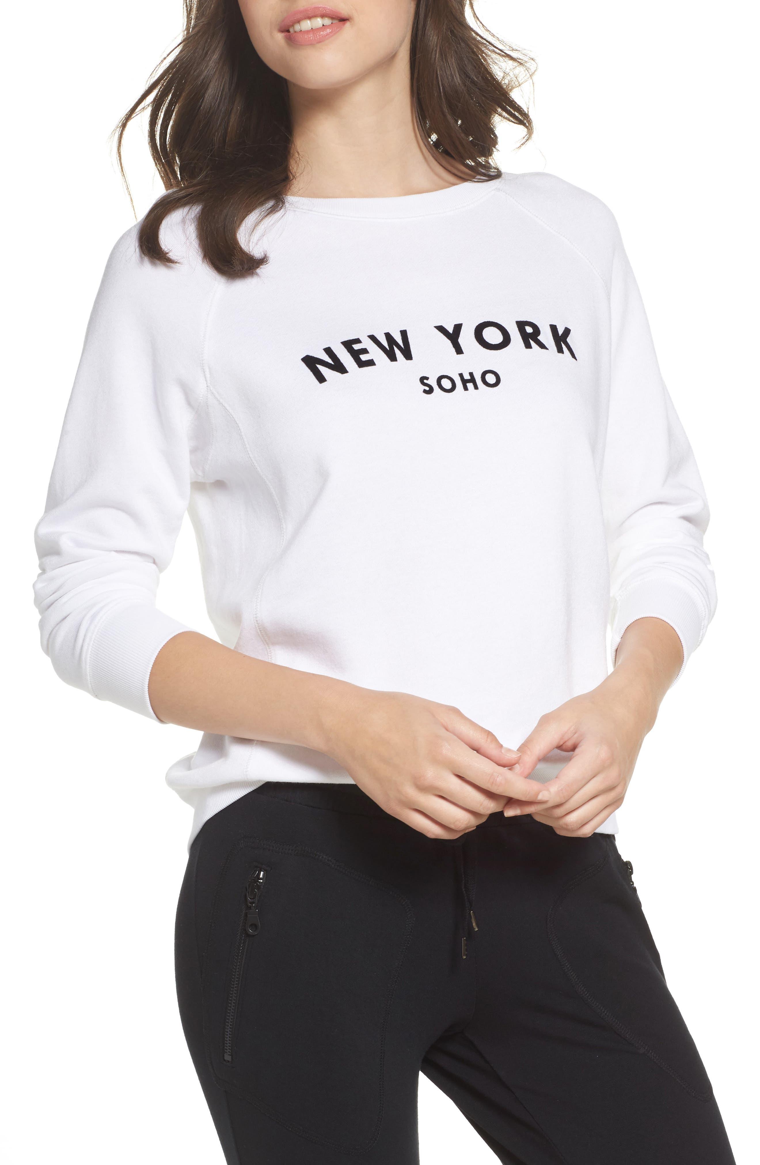 New York Soho Raglan Pullover,                         Main,                         color, White