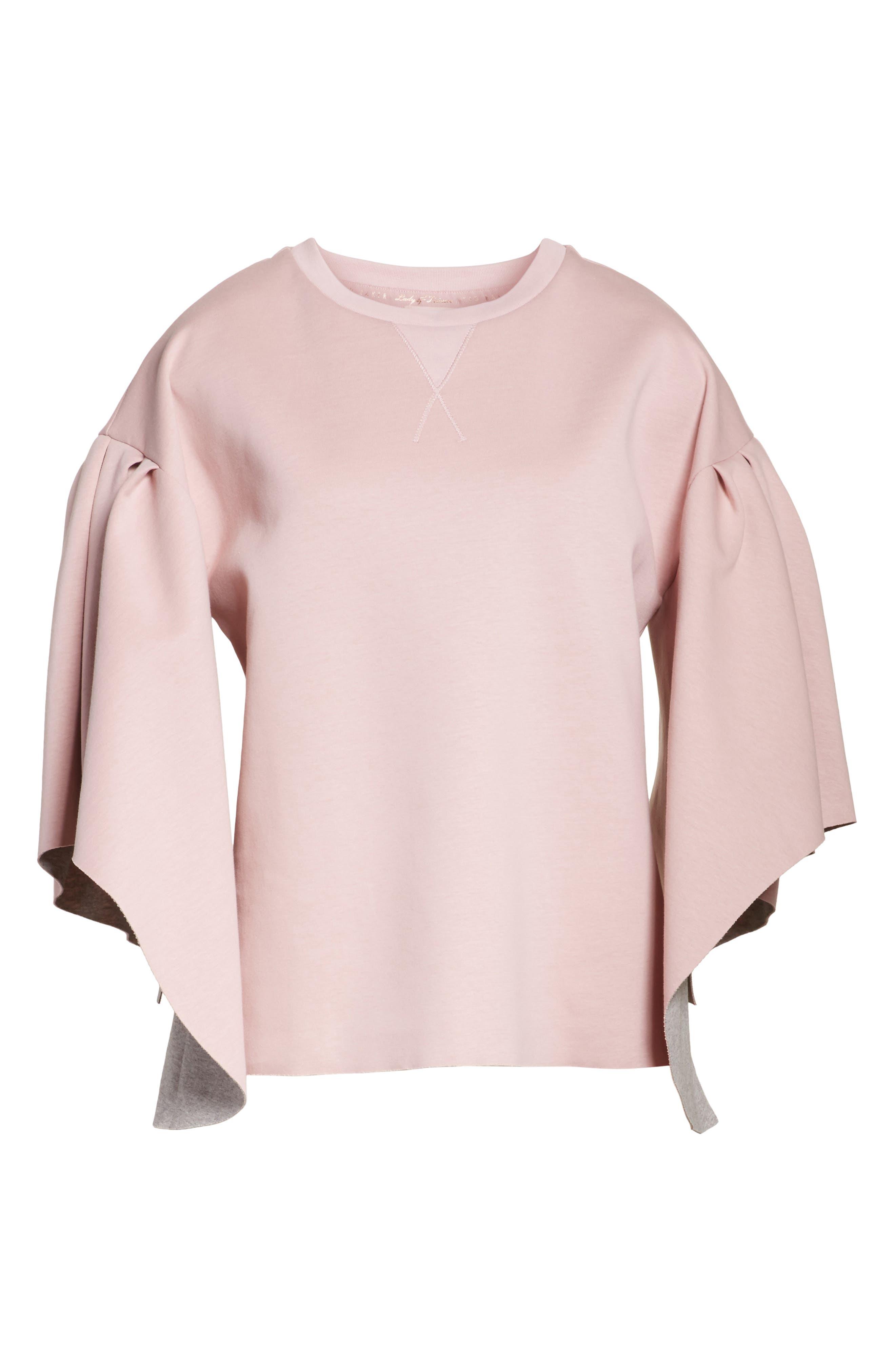 Orcher Full Sleeve Sweatshirt,                             Alternate thumbnail 6, color,                             Dusky Pink