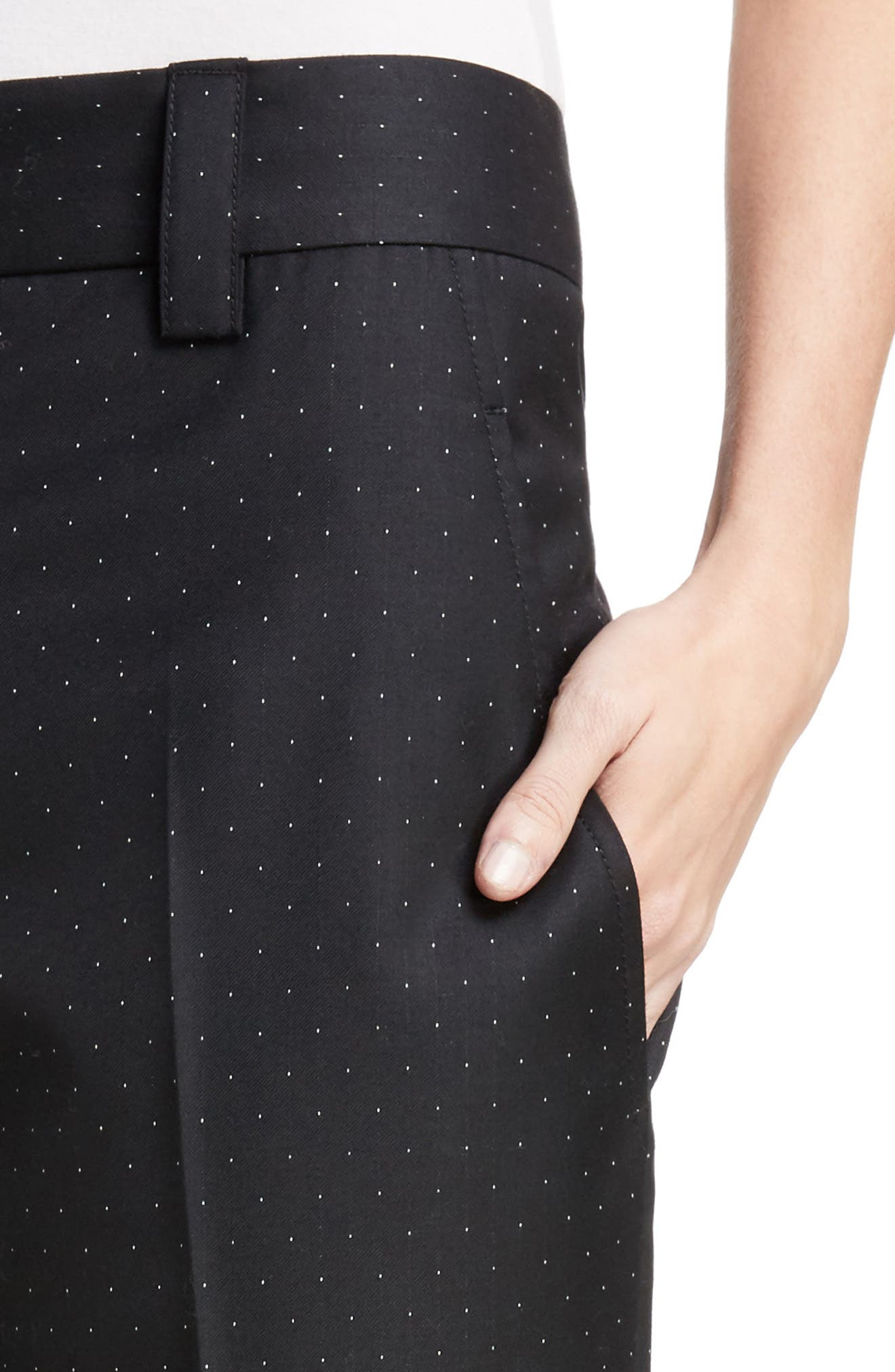 Trea Dot Straight Leg Pants,                             Alternate thumbnail 4, color,                             Navy