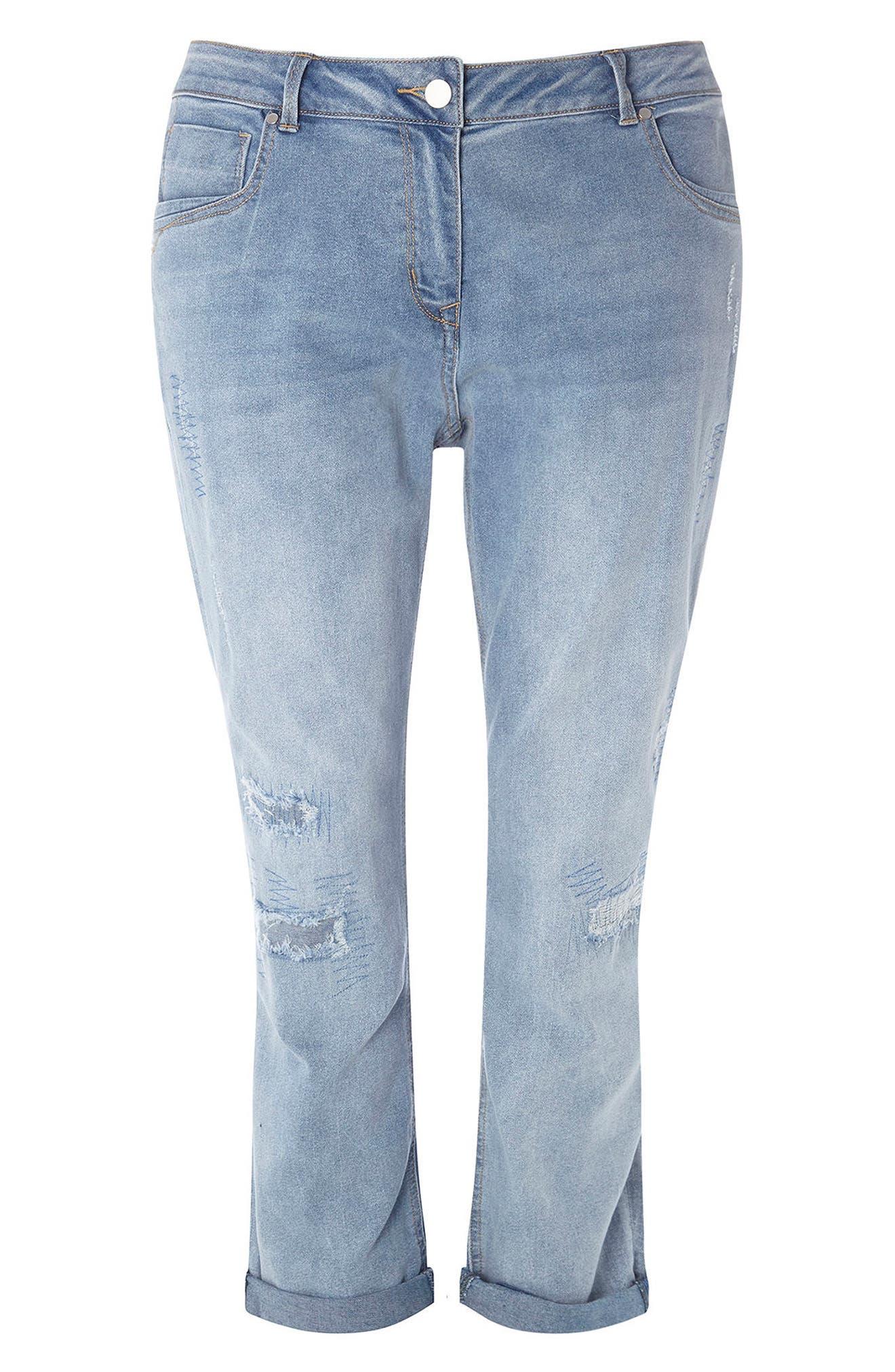 EVANS Repaired Boyfriend Jeans