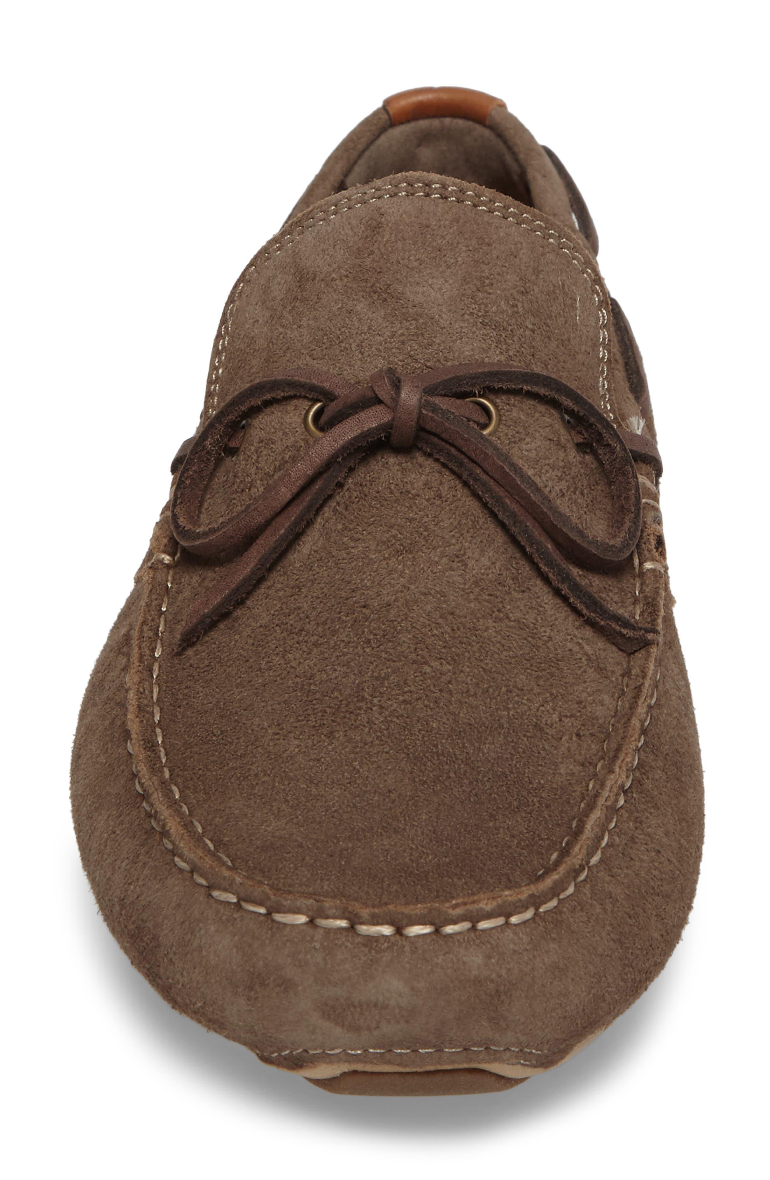 Zero Grand Moc Driving Loafer,                             Alternate thumbnail 4, color,                             Morel Leather
