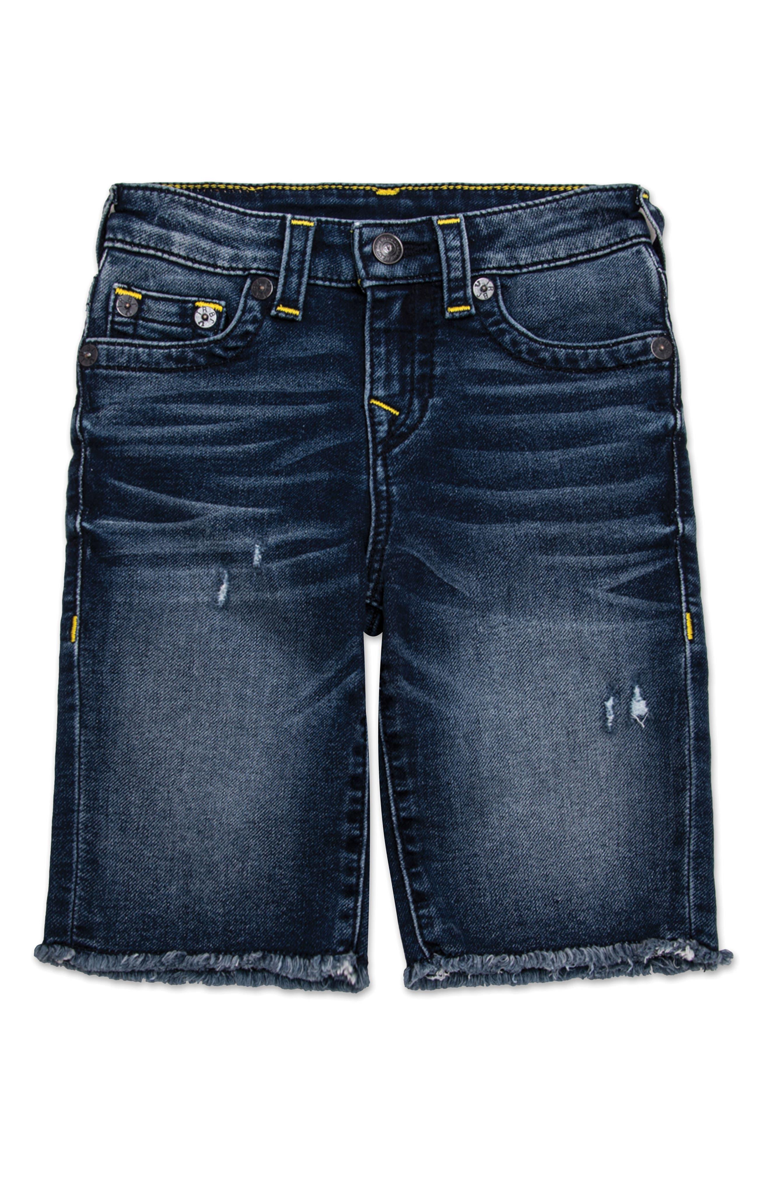 True Religion Brand Jeans Geno Cutoff Denim Shorts (Big Boys)