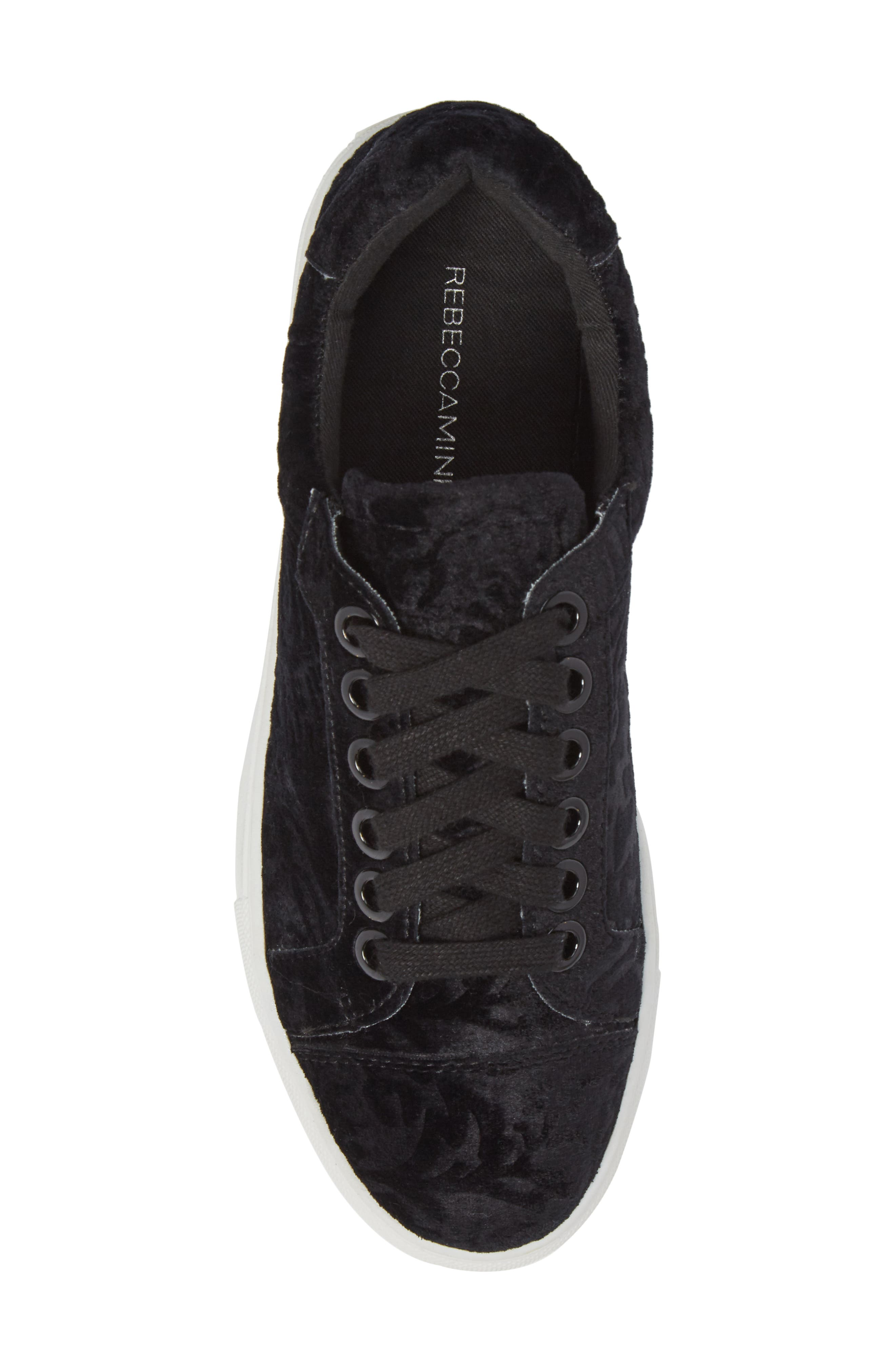 Bleecker Too Sneaker,                             Alternate thumbnail 5, color,                             Black Floral Velvet