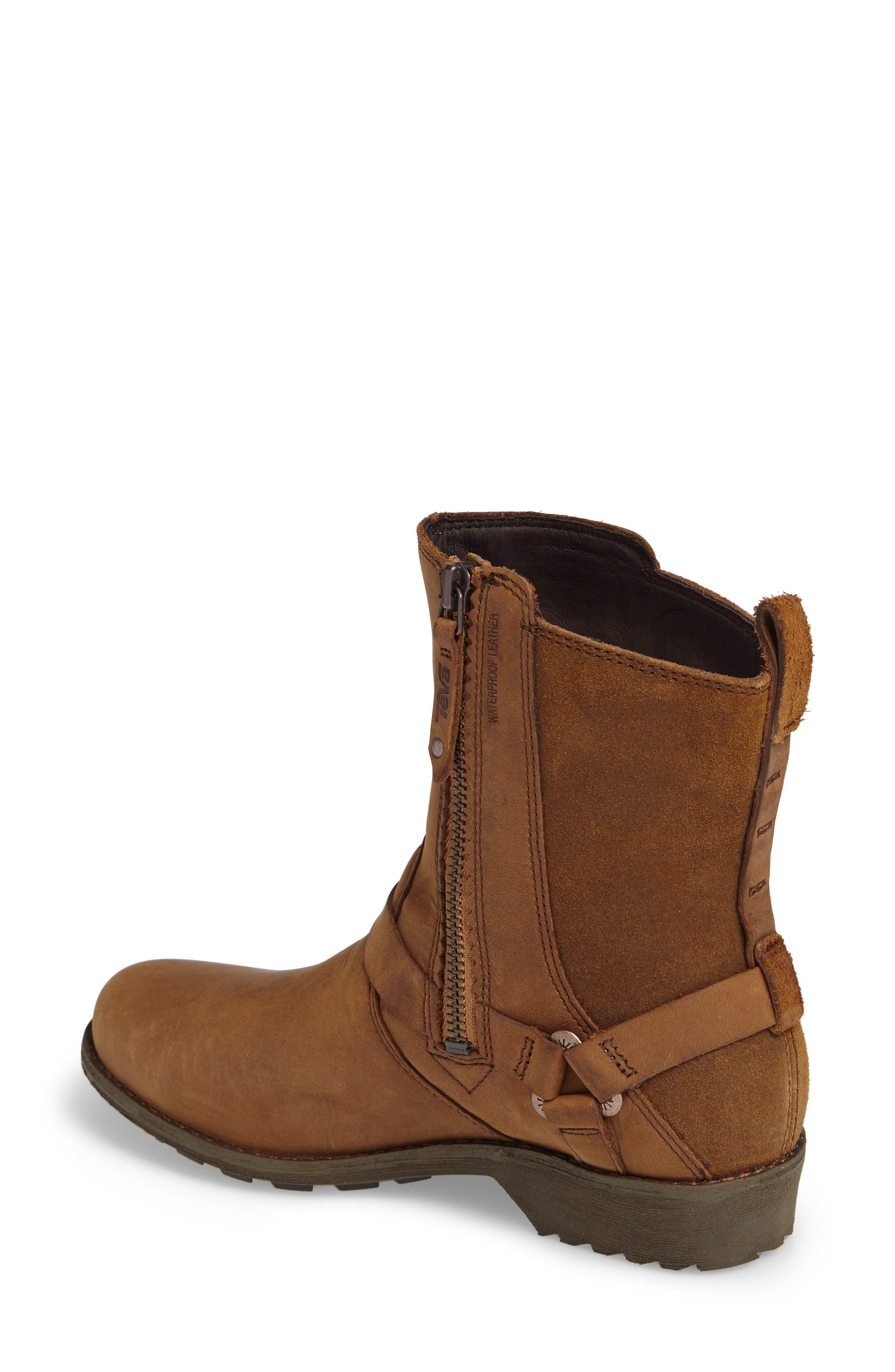 Dina La Vina Dos Waterproof Boot,                             Alternate thumbnail 2, color,                             Bison Leather