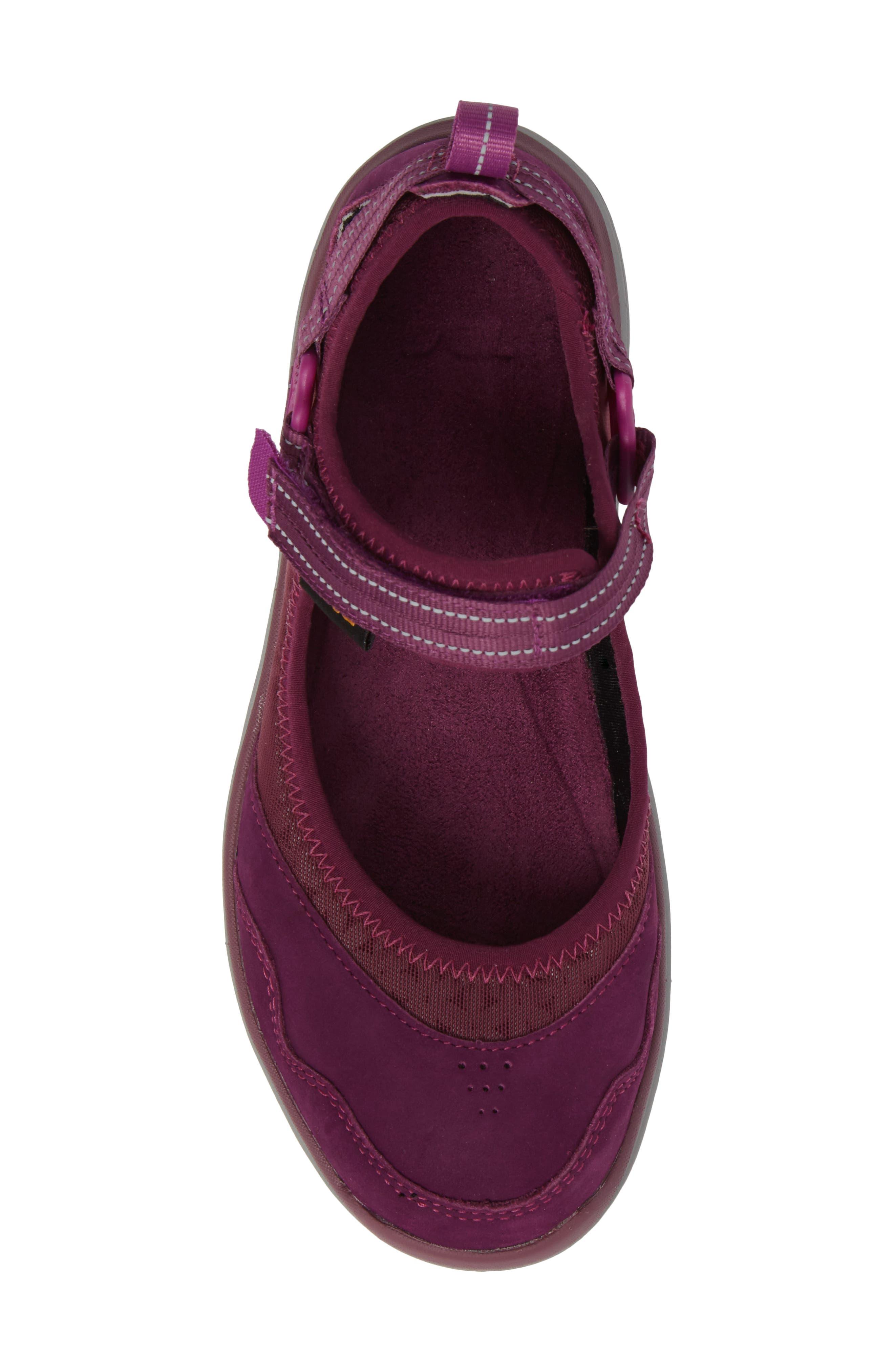 Terra Float Travel Mary Jane Flat,                             Alternate thumbnail 5, color,                             Dark Purple Leather