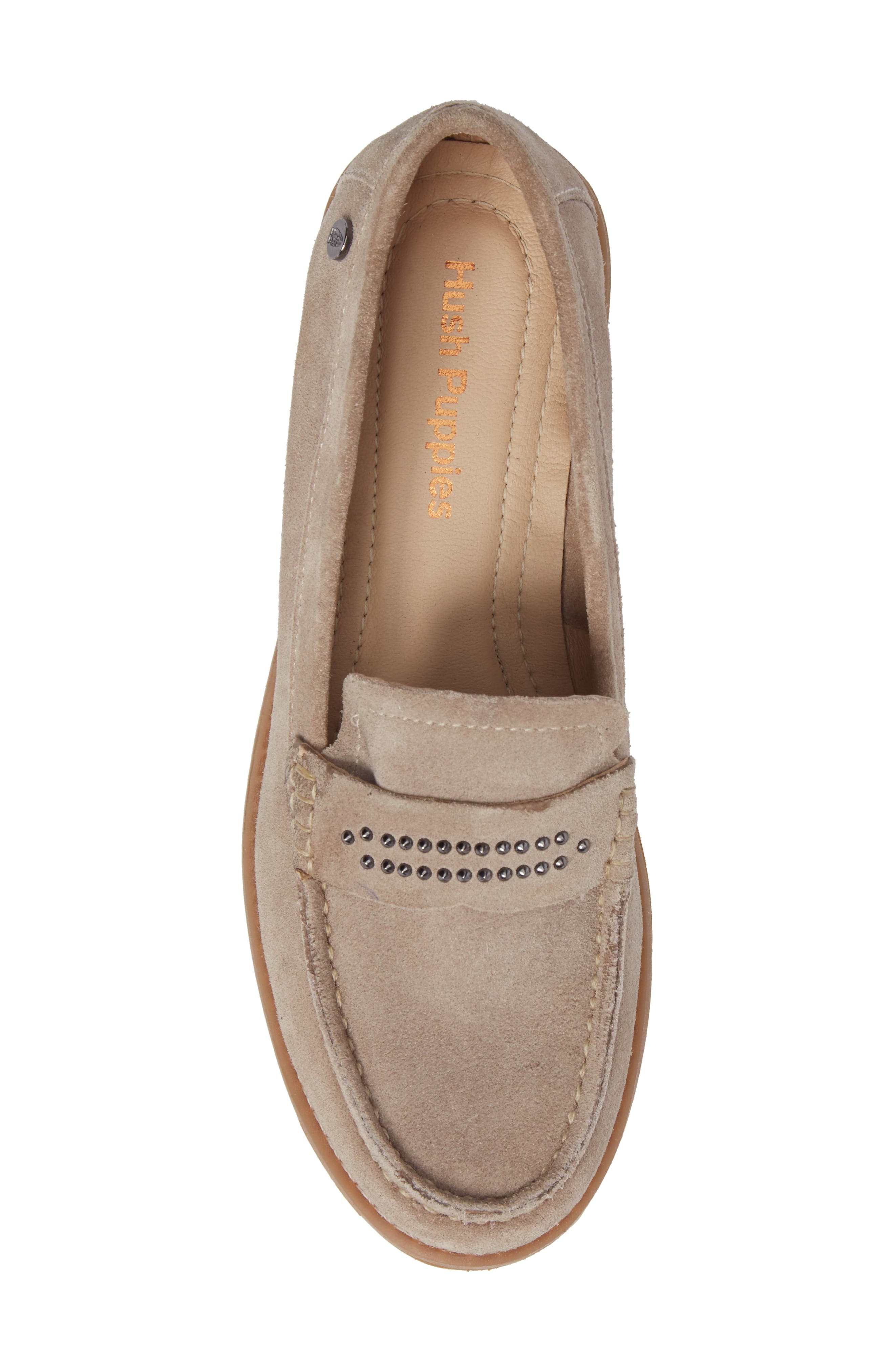 Aubree Chardon Loafer,                             Alternate thumbnail 5, color,                             Taupe Suede