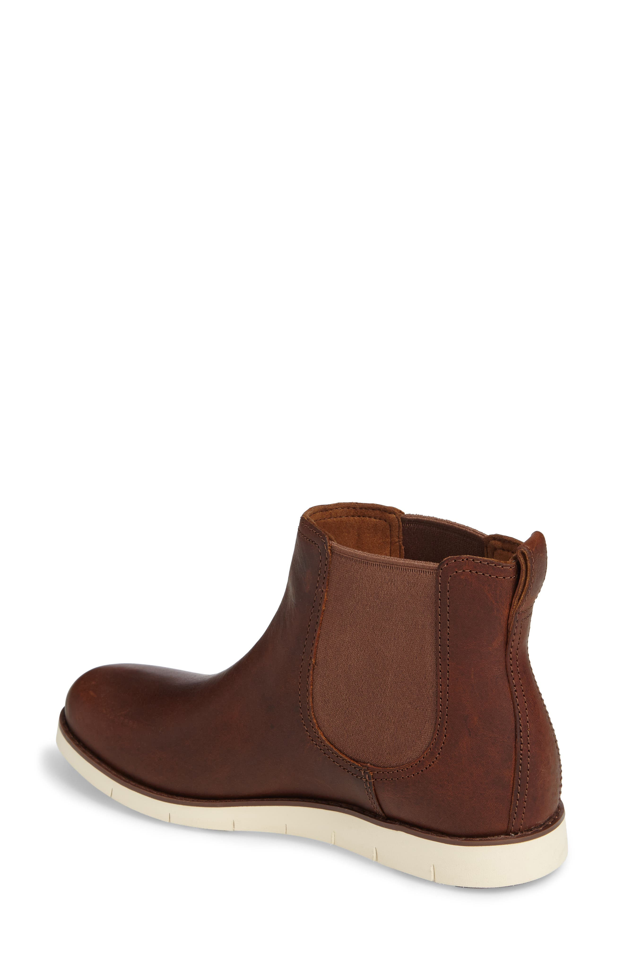 Lakeville Chelsea Boot,                             Alternate thumbnail 2, color,                             Medium Brown Leather