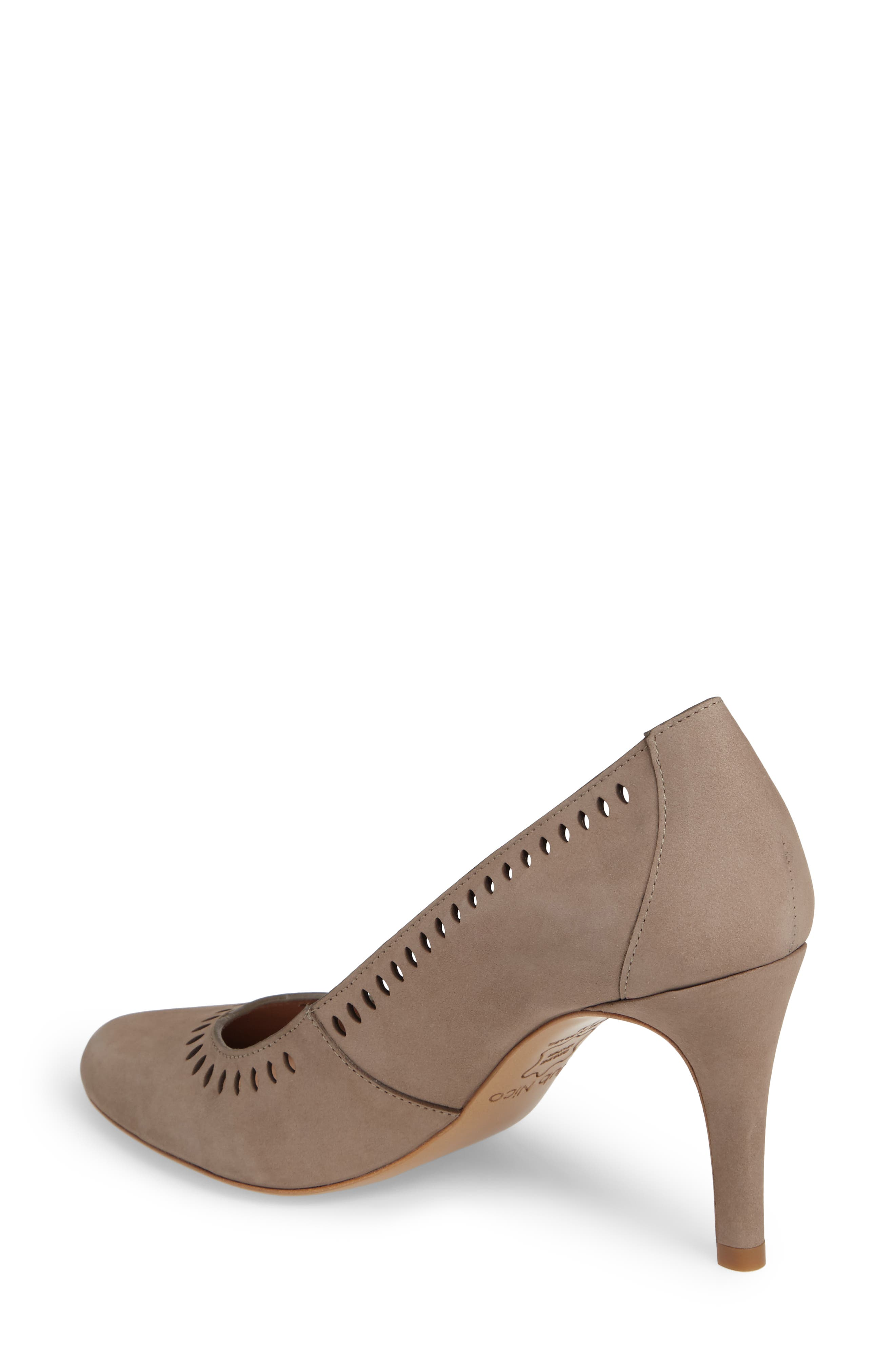 Beleza Perforated Pump,                             Alternate thumbnail 2, color,                             Taupe Nubuck Leather