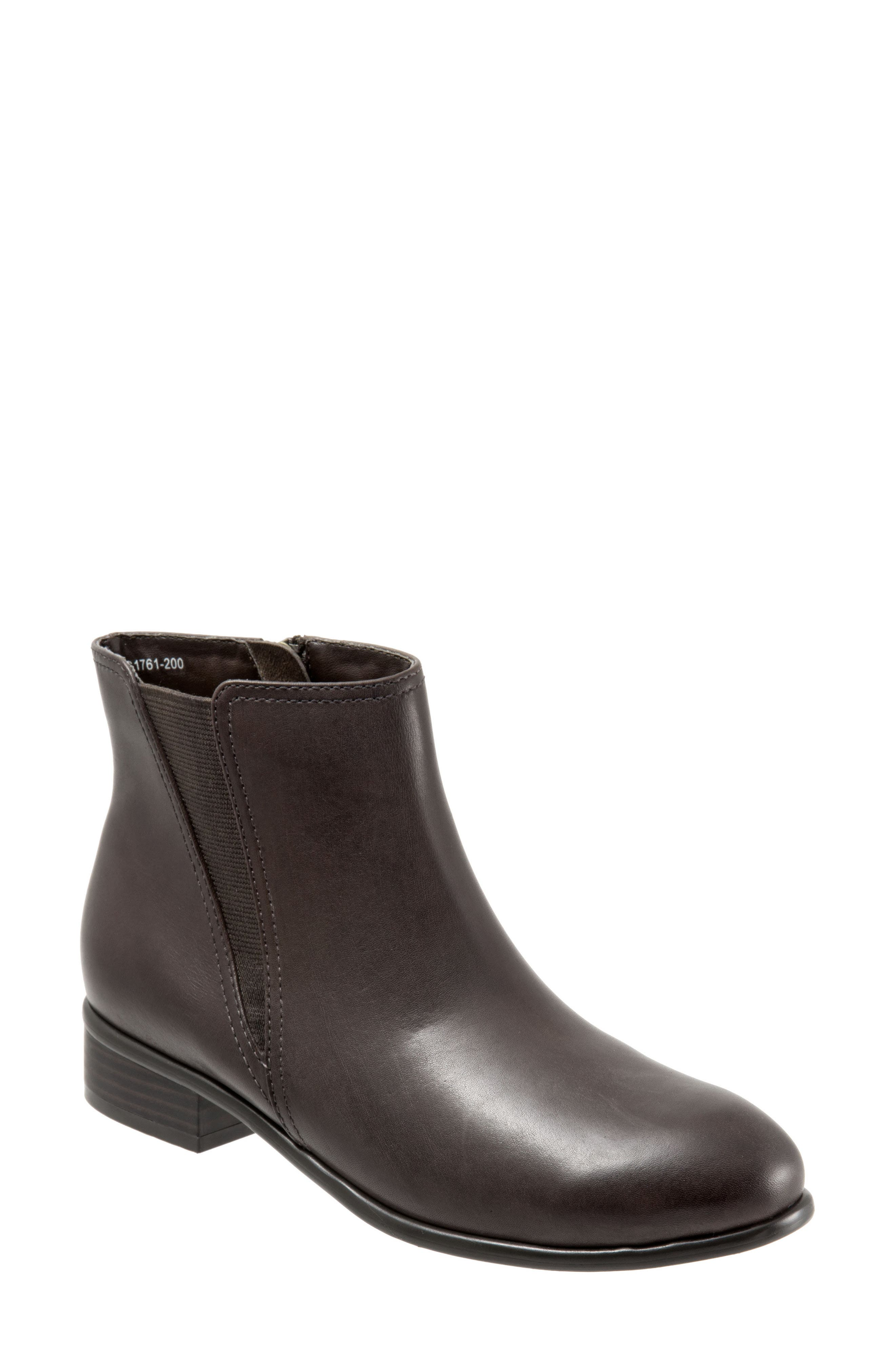 Urban Bootie,                             Main thumbnail 1, color,                             Dark Brown Leather