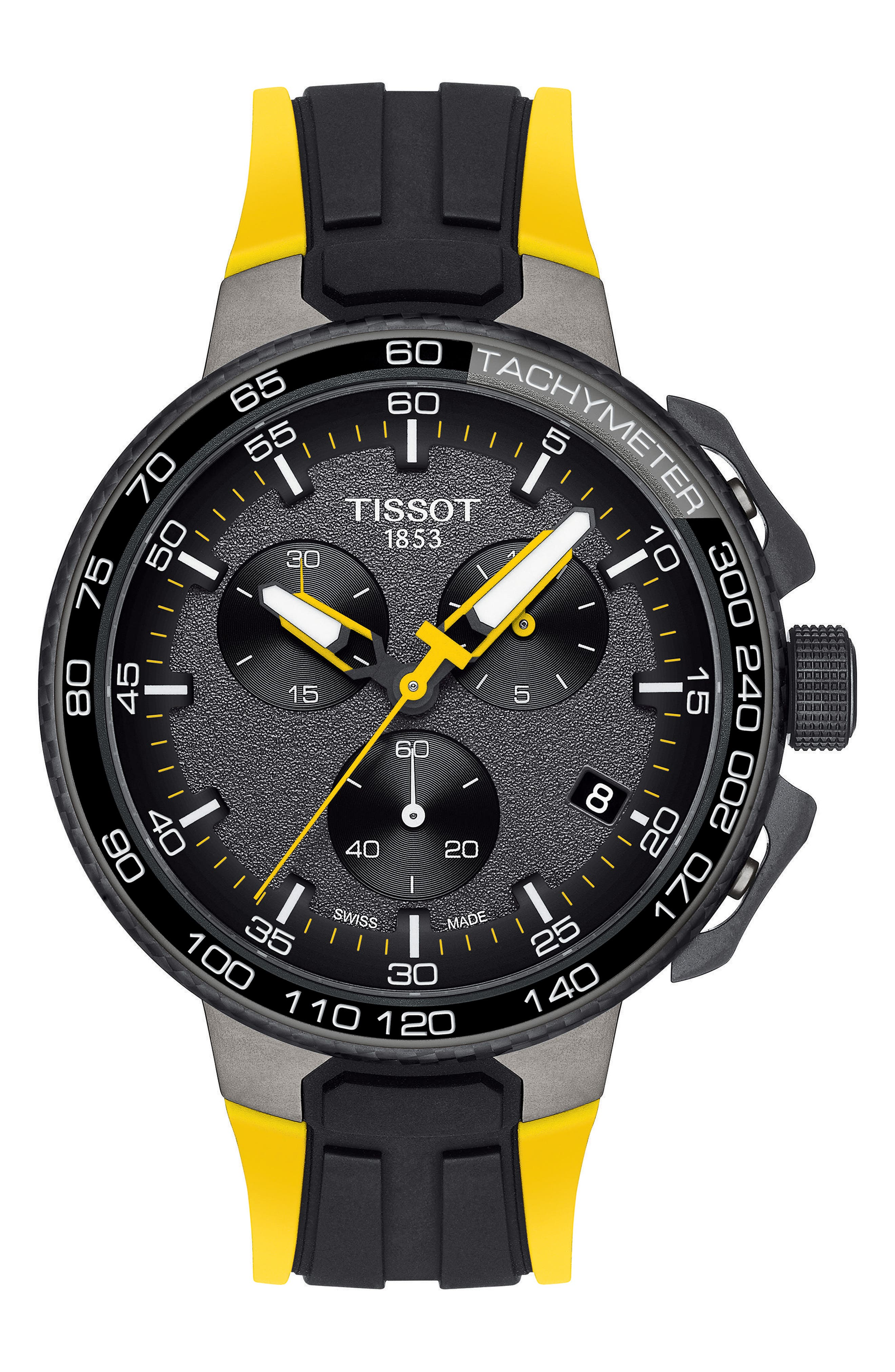 Tissot T-Race Tour de France Chronograph Silicone Strap Watch, 45mm