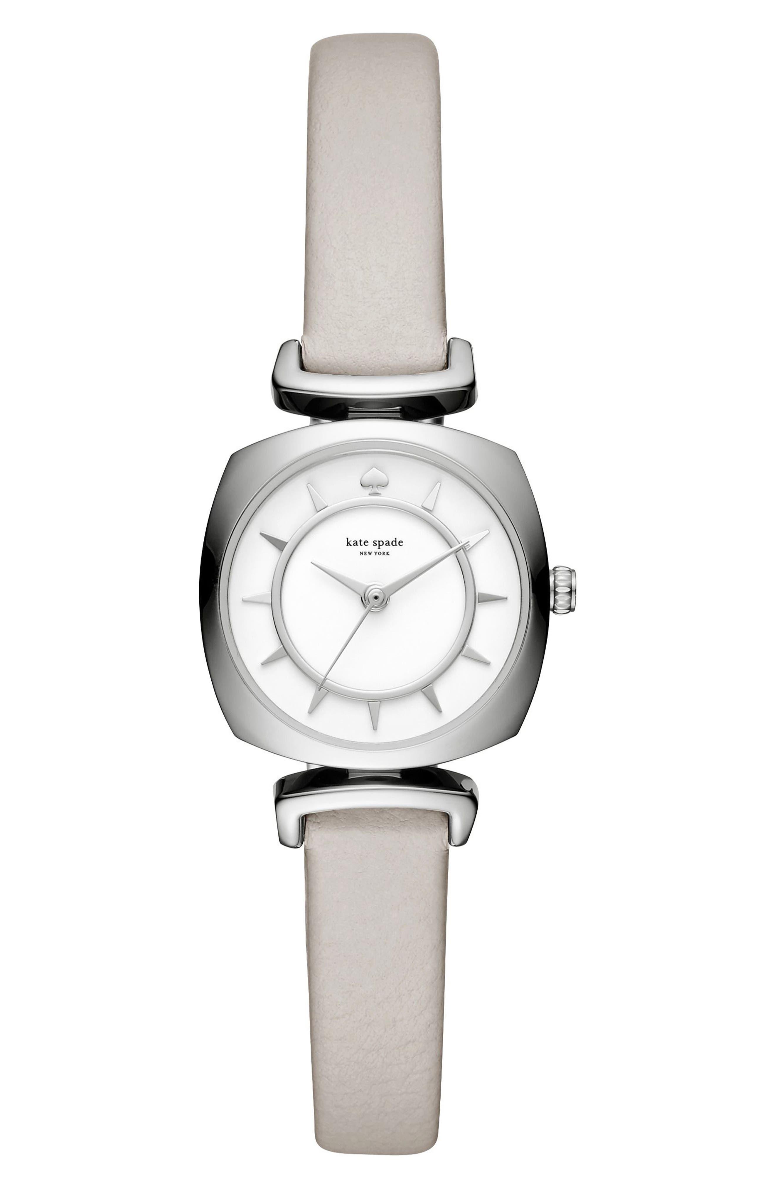 KATE SPADE NEW YORK barrow leather strap/bracelet watch, 24mm