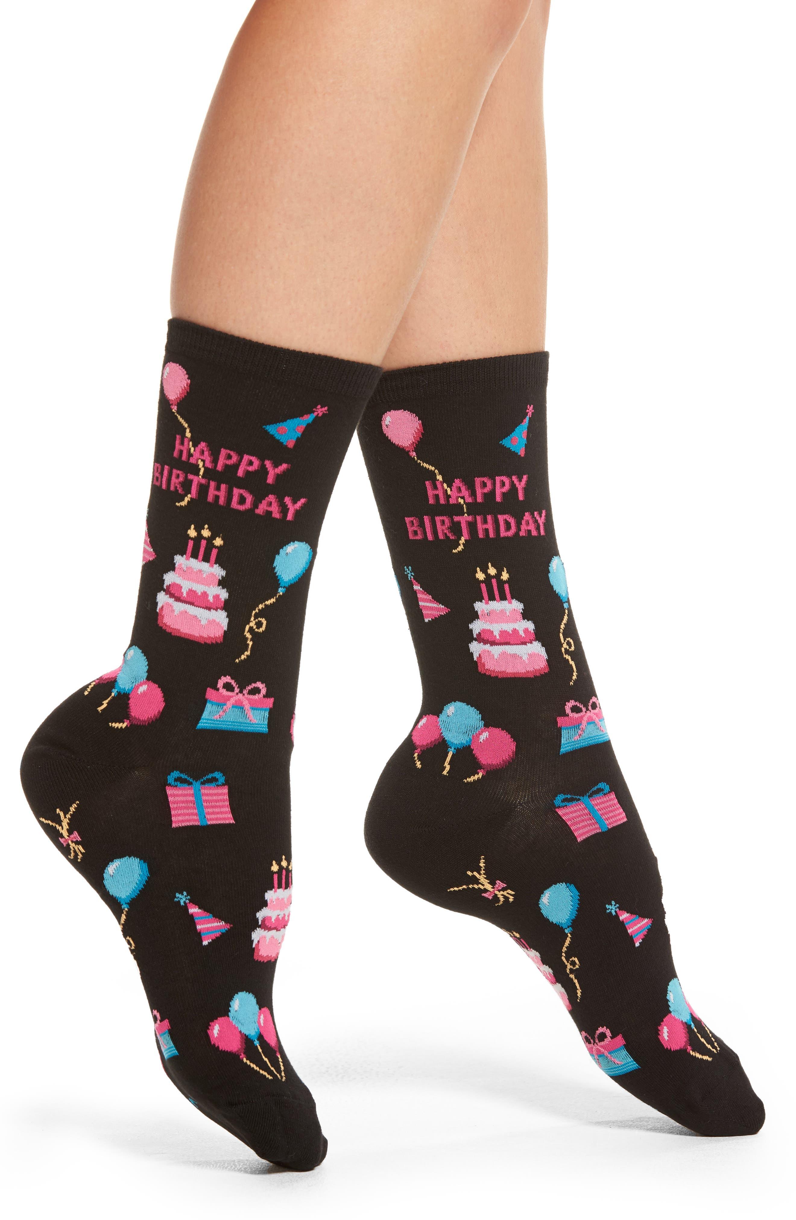 Hot Sox 'Happy Birthday' Socks (3 for $15)