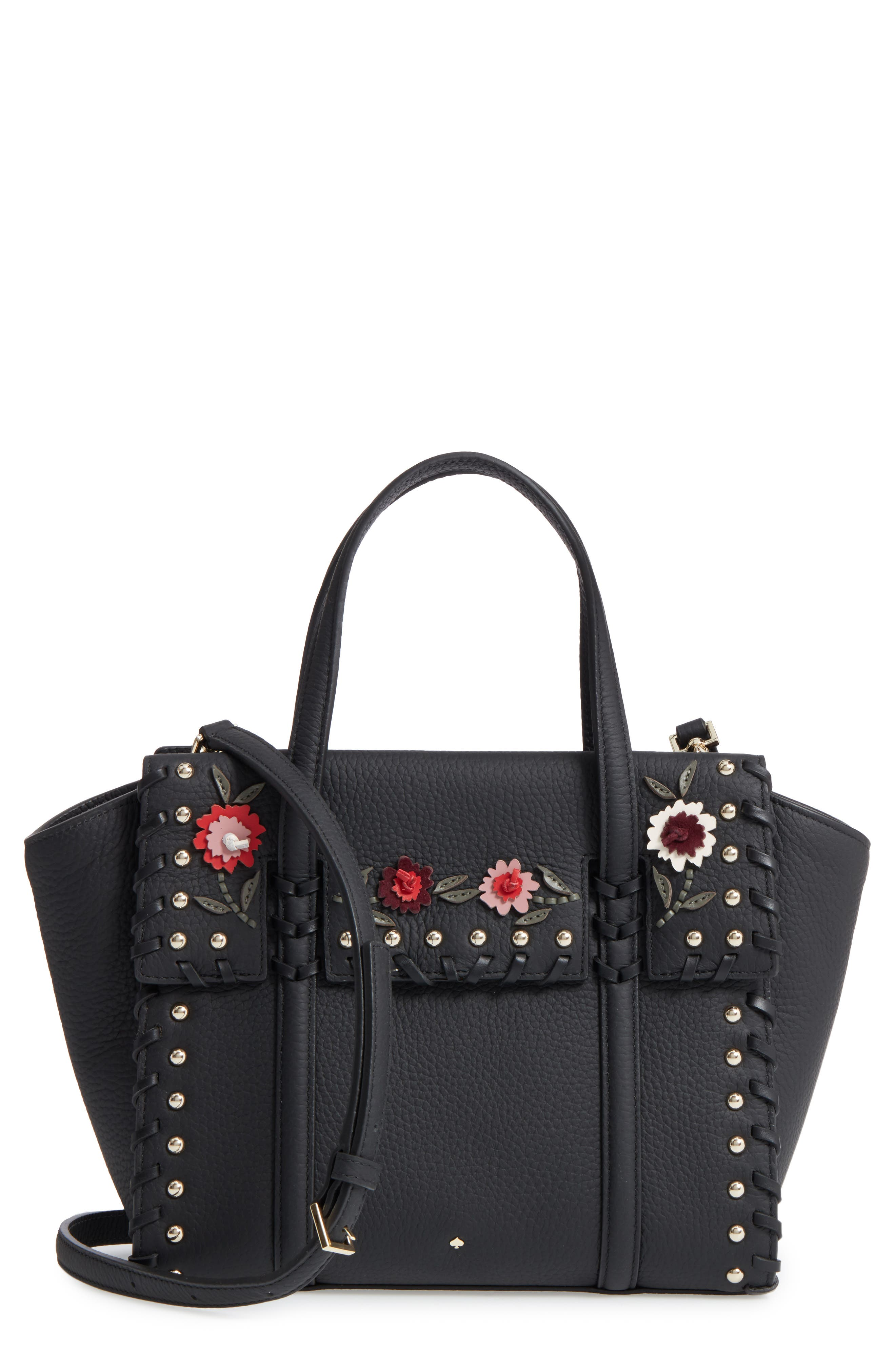 small madison daniels drive - abigail embellished leather tote,                             Main thumbnail 1, color,                             Black