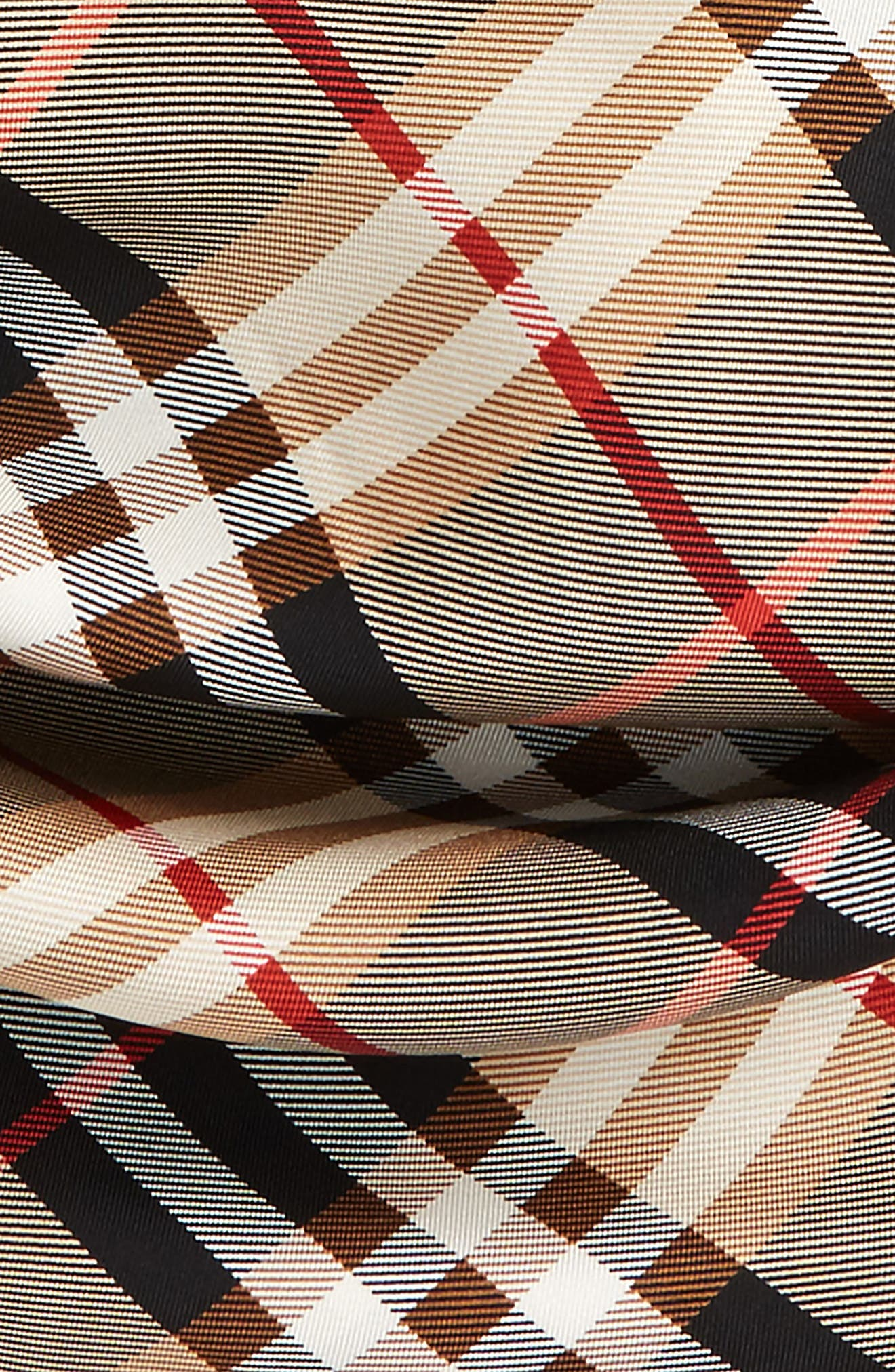 Alternate Image 3  - Burberry Castleford Check Silk Scarf