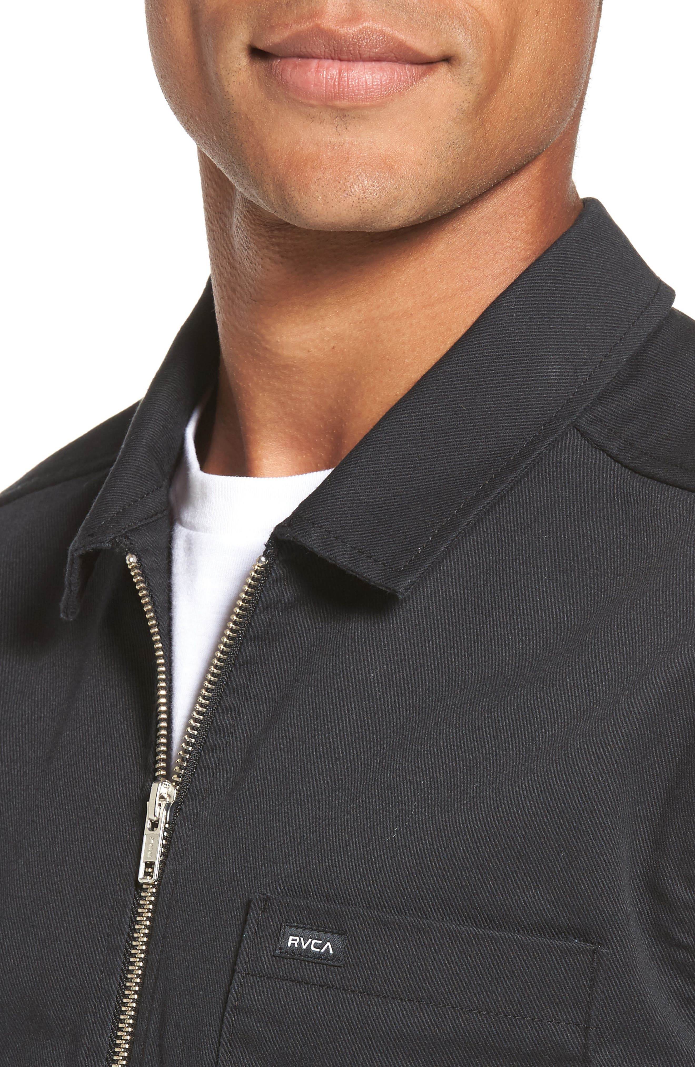 Rex Shirt Jacket,                             Alternate thumbnail 4, color,                             Black
