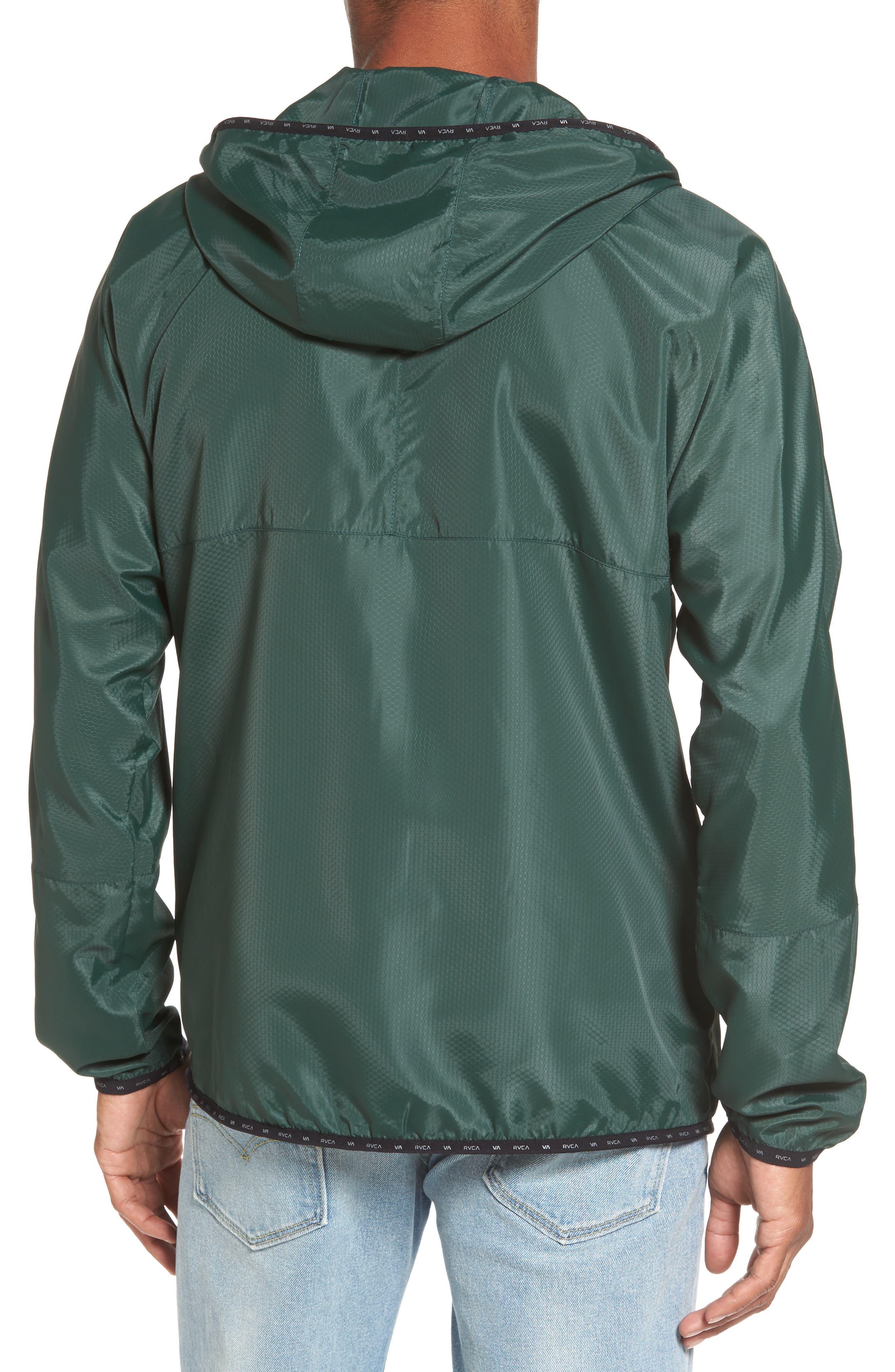 Alternate Image 2  - RVCA Hexstop II Water Repellent Hooded Jacket