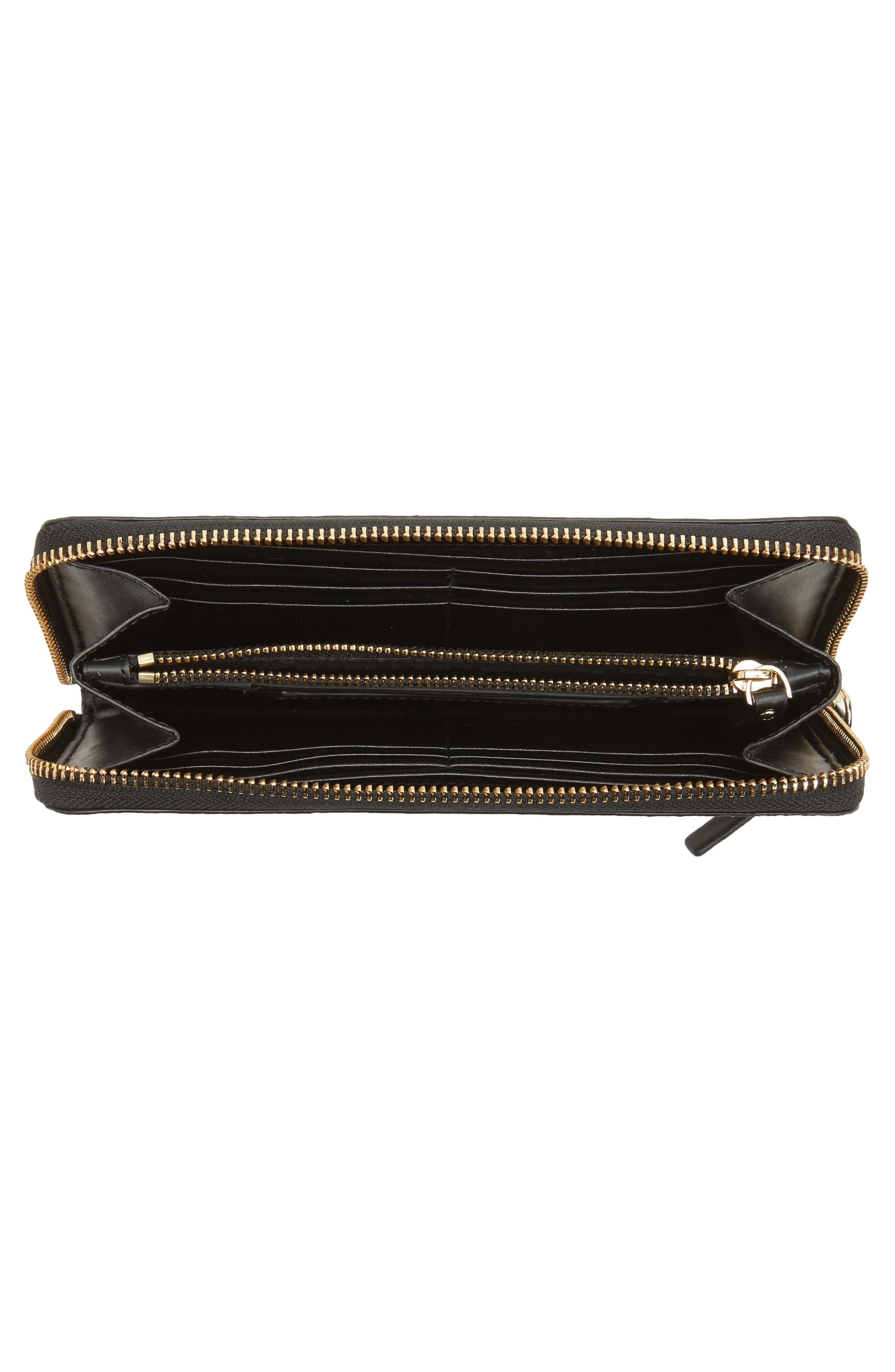 hyde lane - michele stripe wallet,                             Alternate thumbnail 2, color,                             Black/ Cream