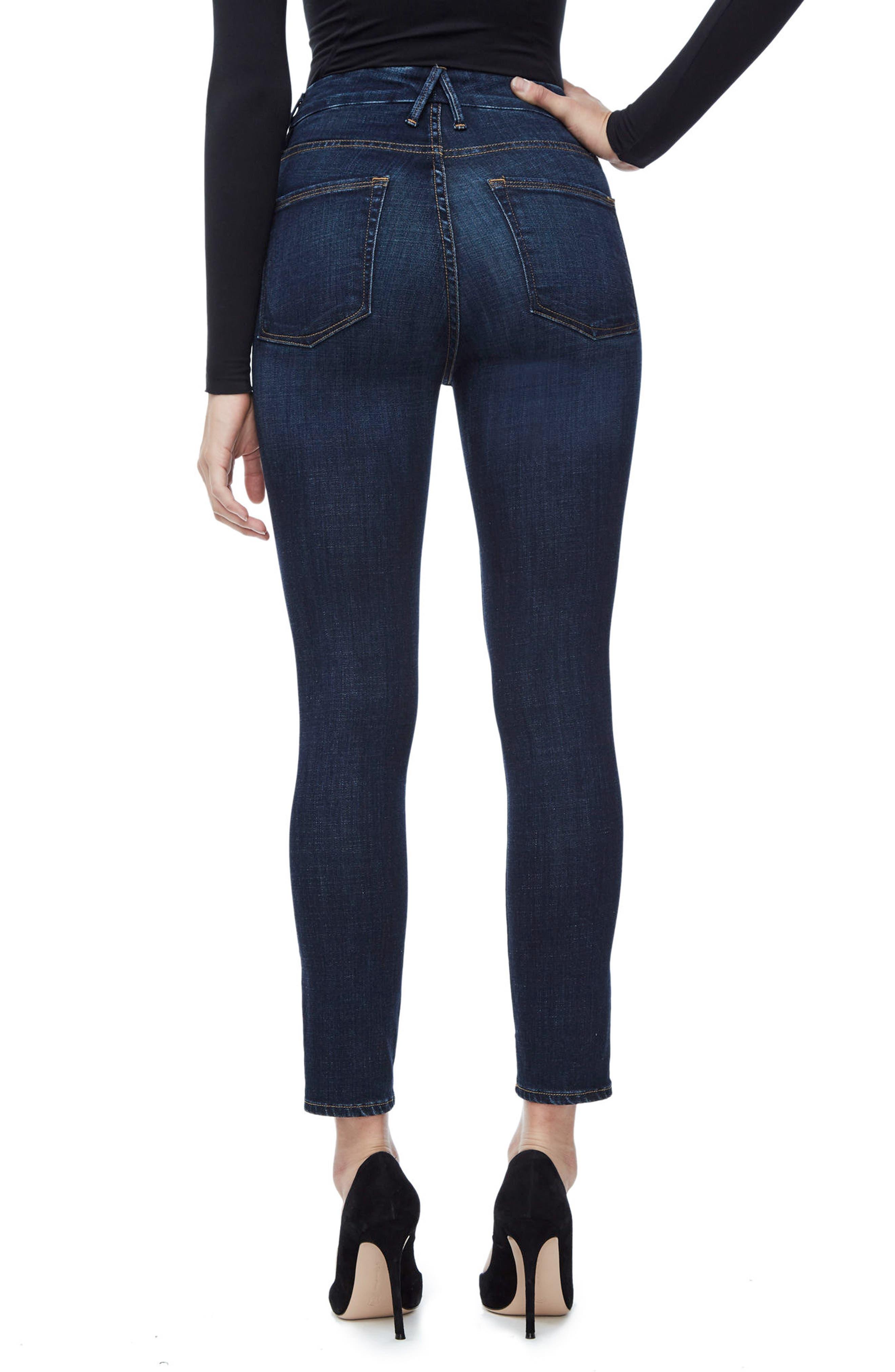 Alternate Image 2  - Good American Good Legs High Waist Ankle Skinny Jeans (Blue 089) (Regular & Plus Size)