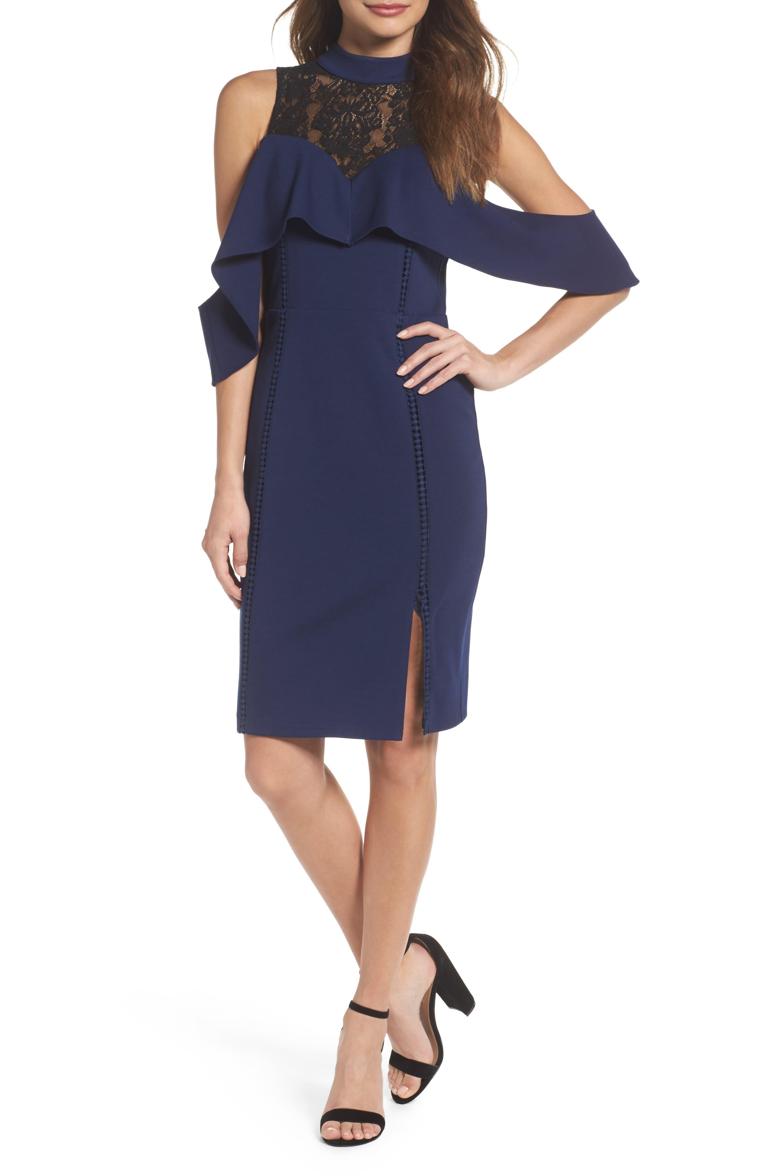 Alternate Image 1 Selected - Adelyn Rae Hadyn Cold Shoulder Sheath Dress