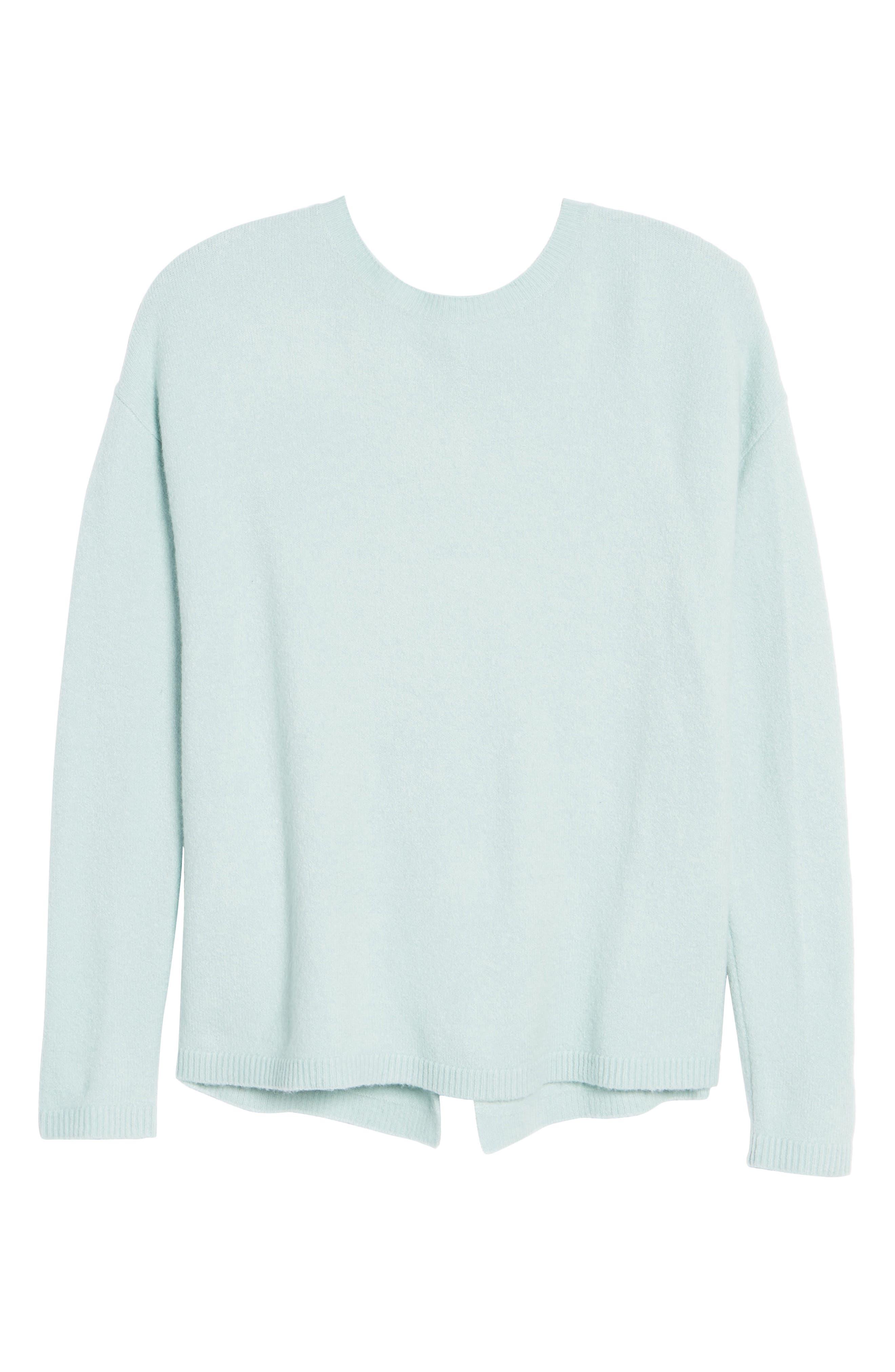 Alternate Image 6  - Halogen® Bow Back Sweater (Regular & Petite)