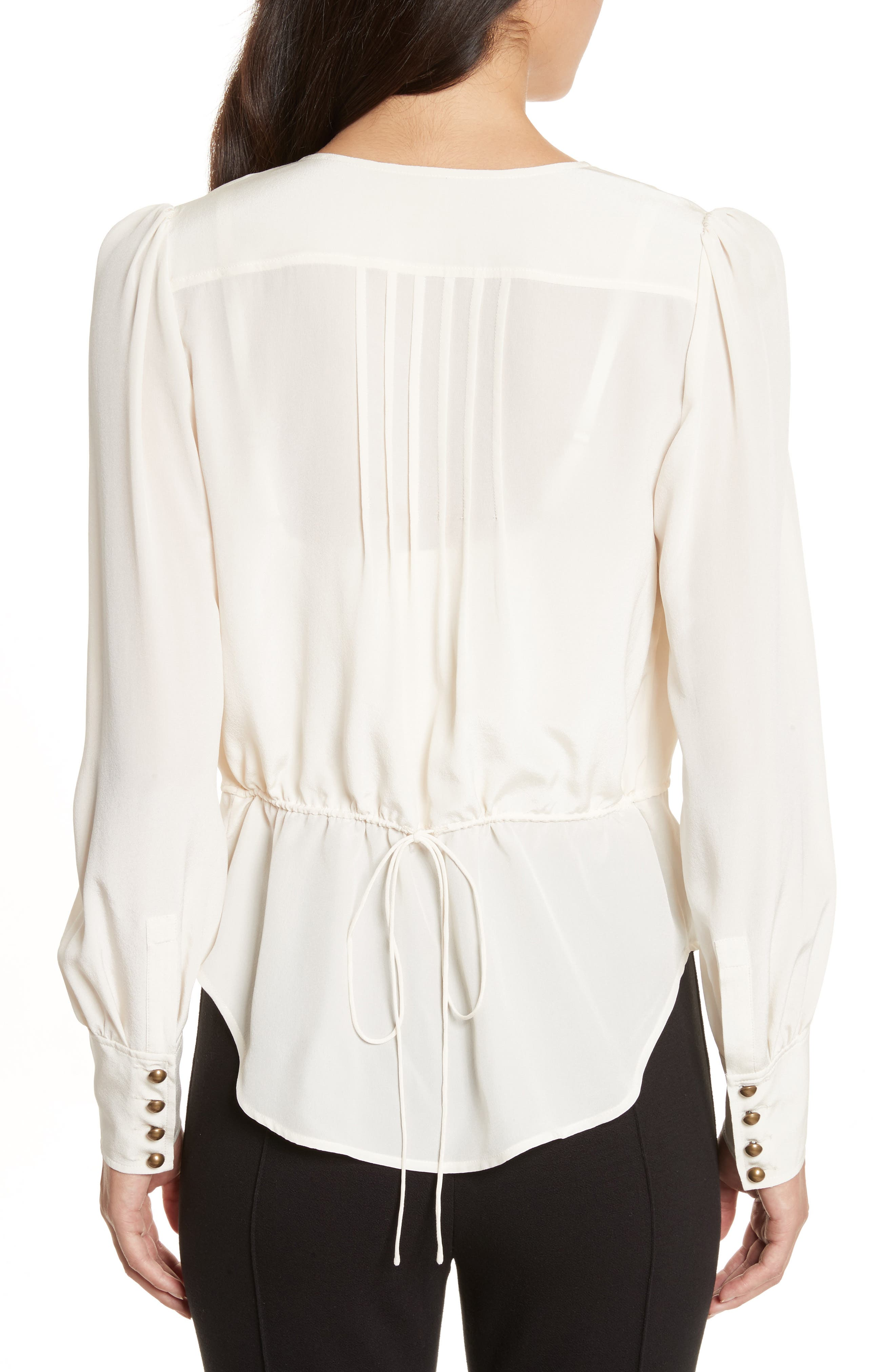 Alternate Image 2  - Tracy Reese Button Front Silk Blouse