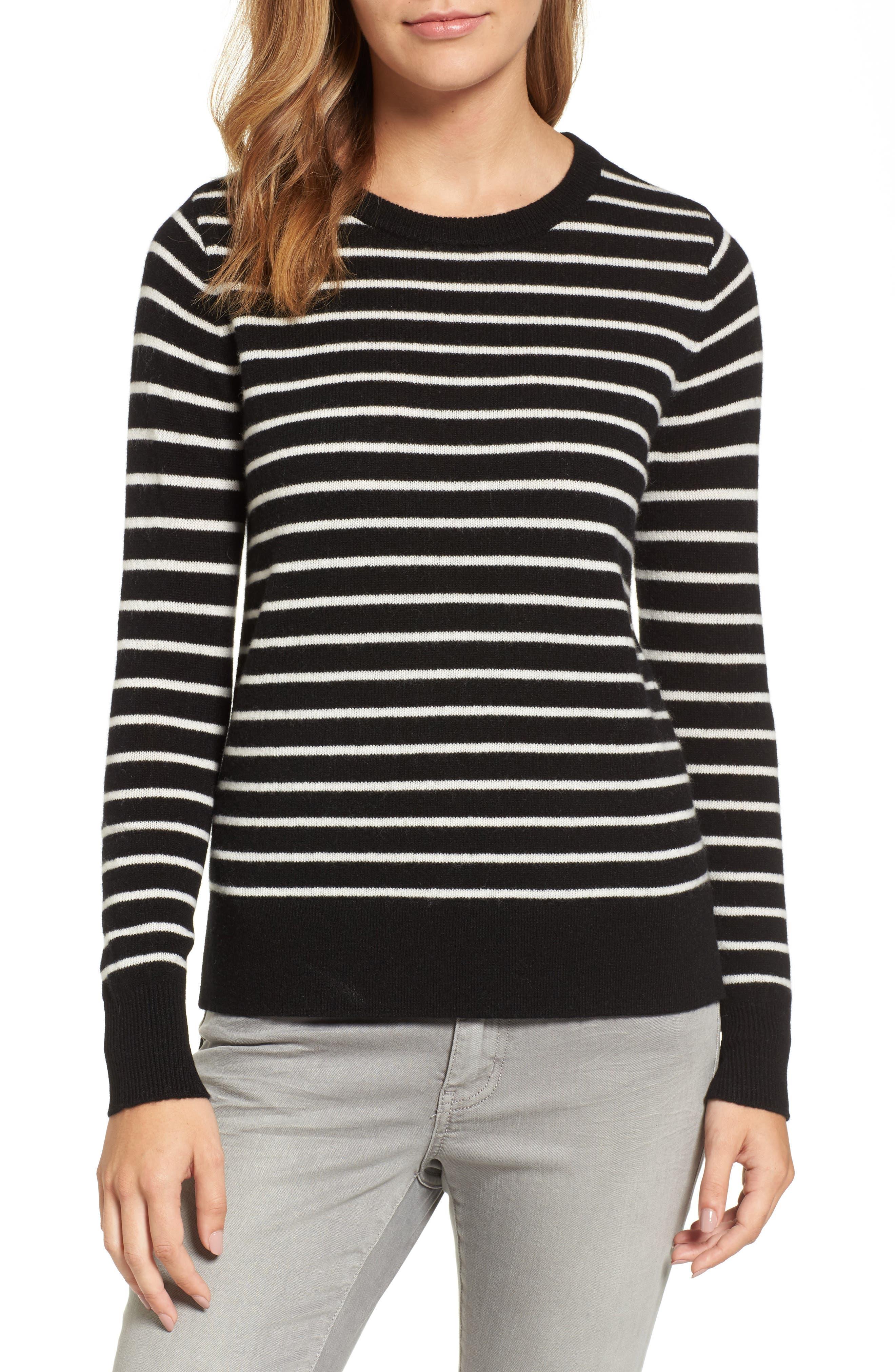 Alternate Image 1 Selected - Halogen® Crewneck Cashmere Sweater (Regular & Petite)