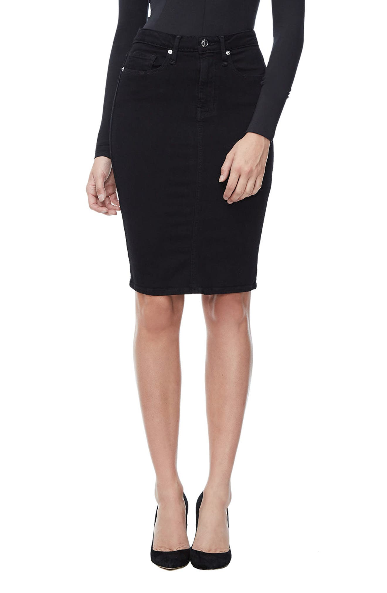 The Pencil Skirt,                         Main,                         color, Black 001