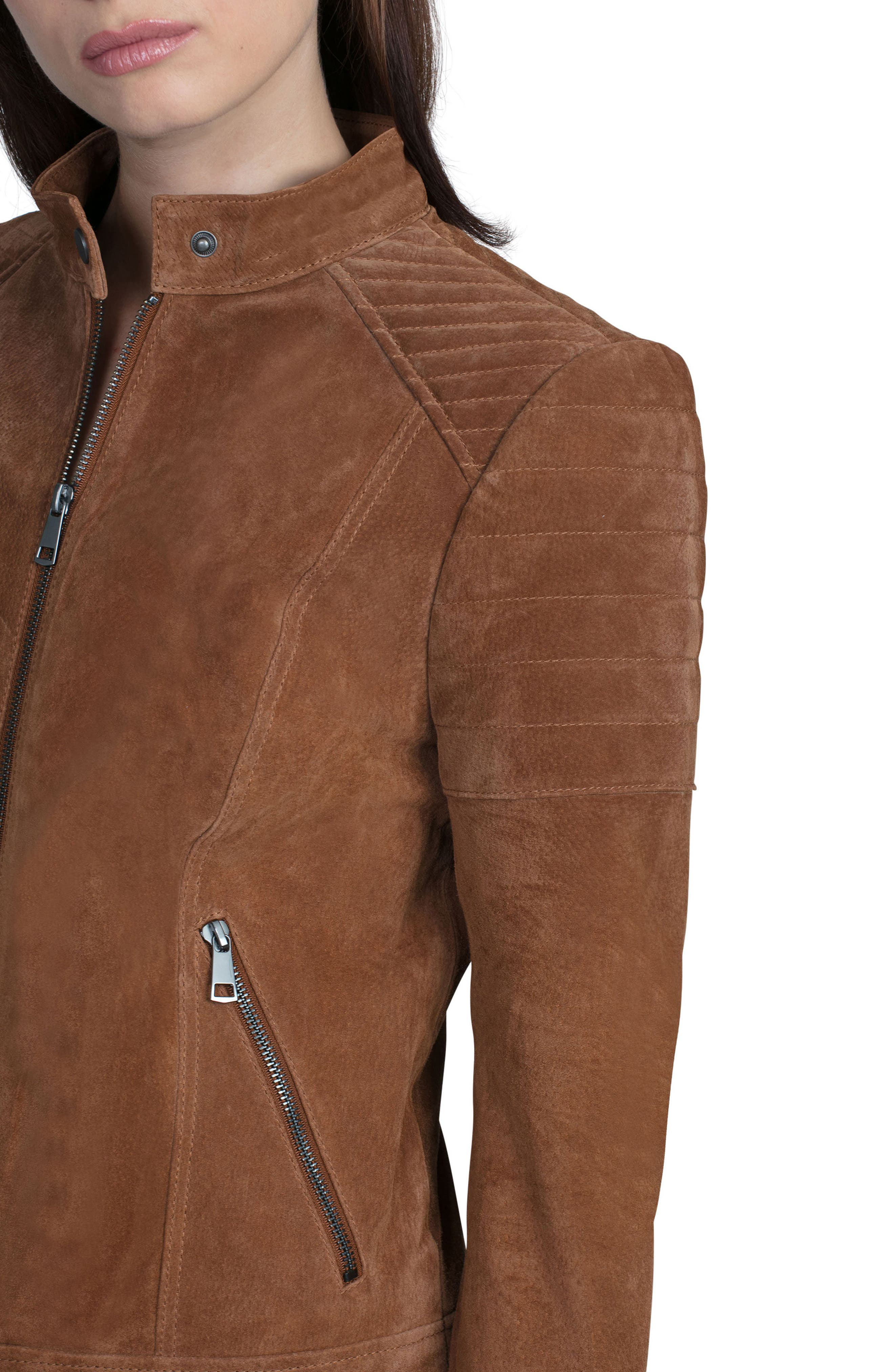 Alternate Image 4  - Bagatelle Suede Moto Jacket